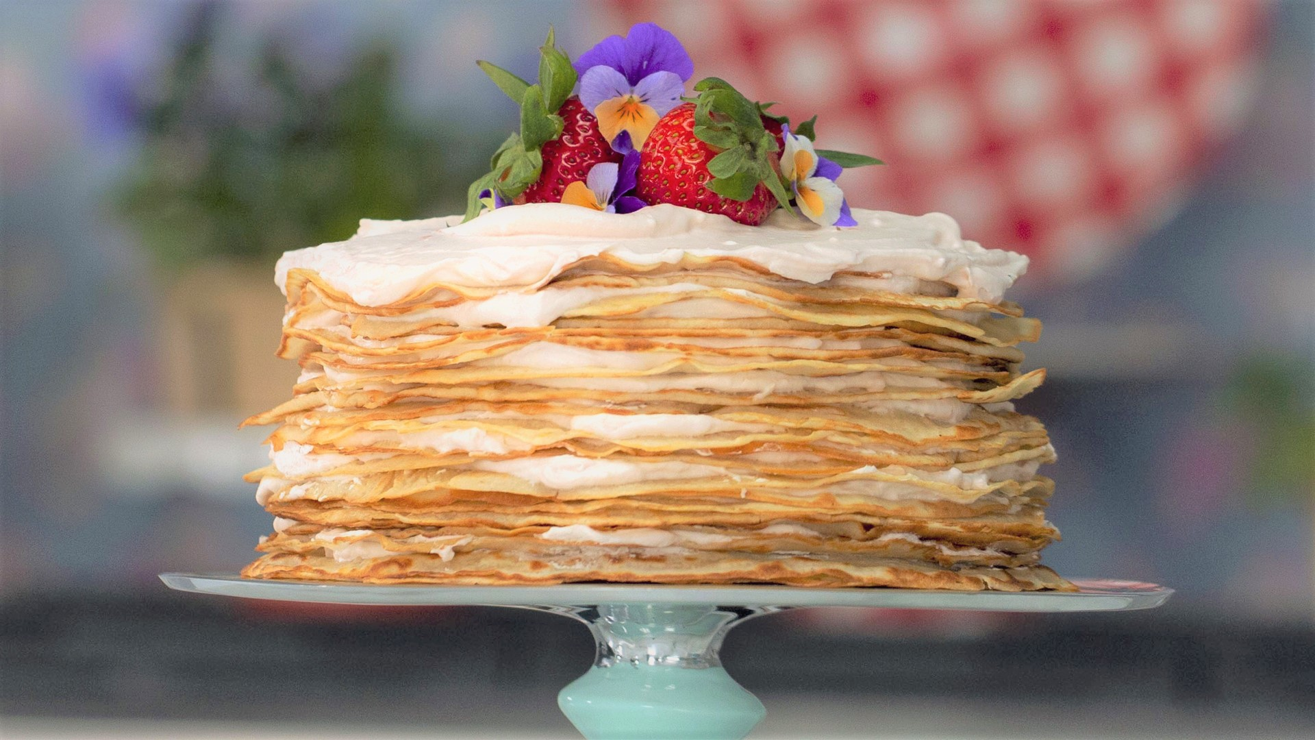 Strawberry Crepe Cake Smart Cookie
