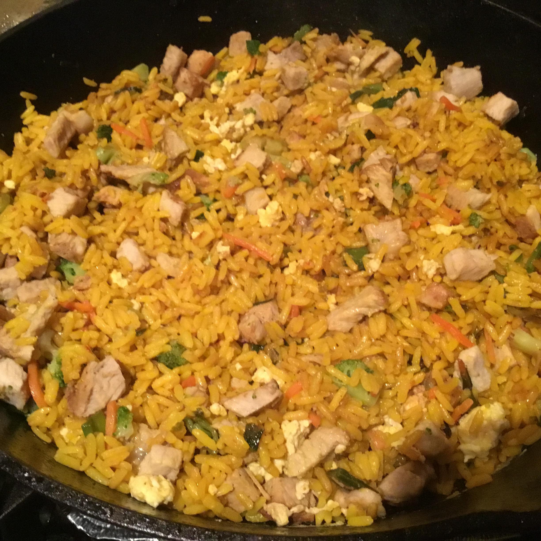 Pork Fried Rice for a Crowd