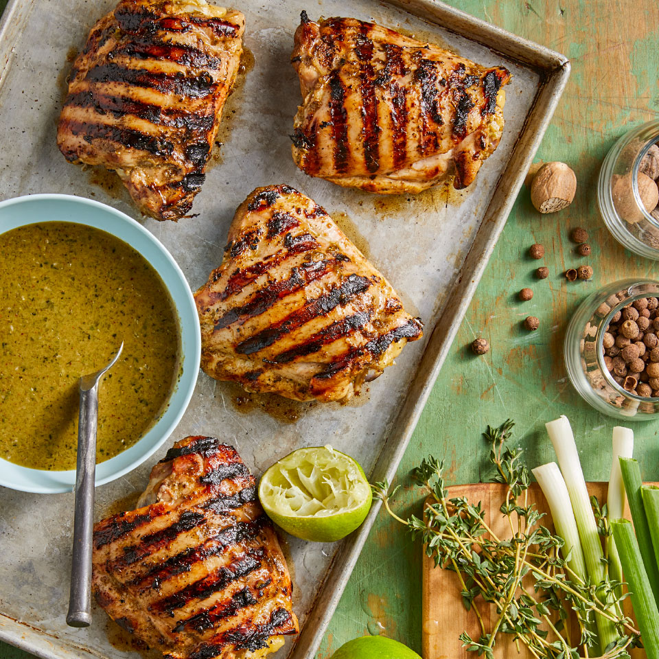 Grilled Chicken Thighs with Jerk Sauce Andrea Kirkland M.S., RD