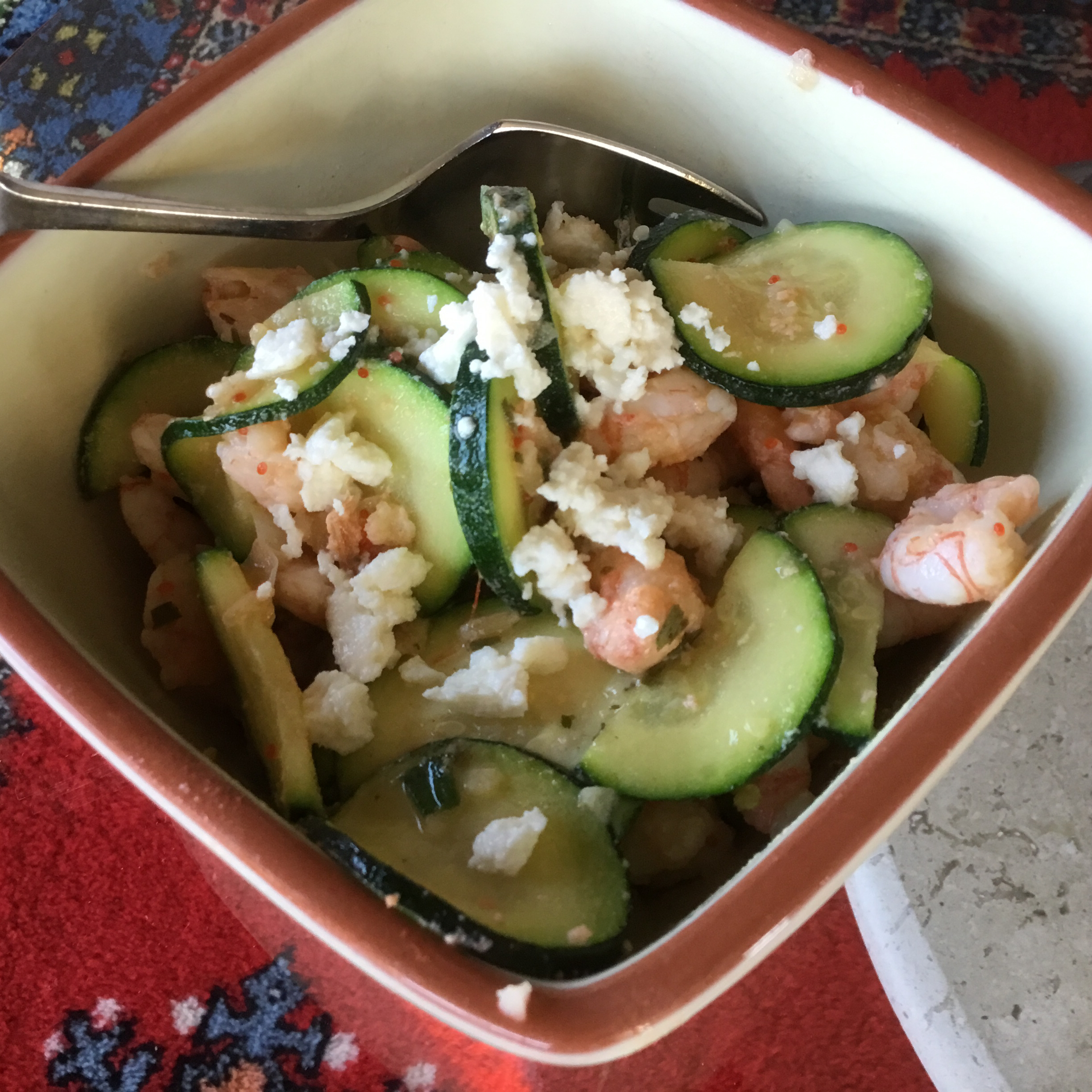Shrimp and Zucchini Rice Bowl snady