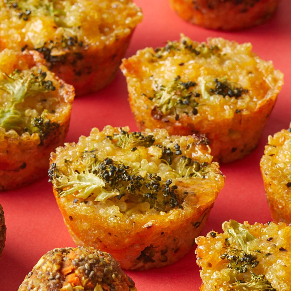 Baked Broccoli-Cheddar Quinoa Bites Beth Lipton