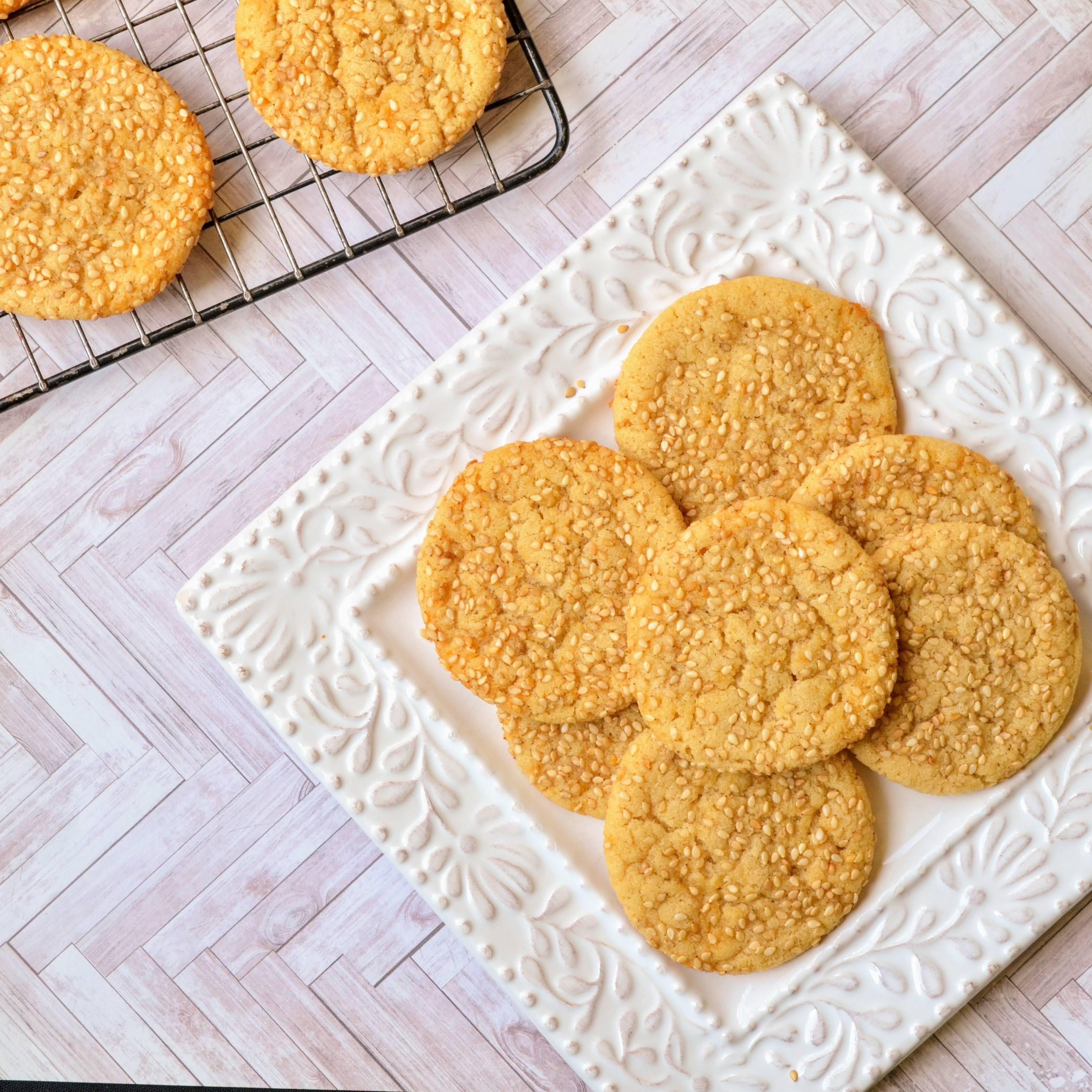 Sesame Cookies Kim's Cooking Now