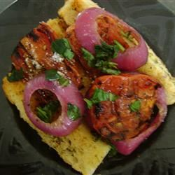 Grilled Tomato, Onion, and Bread Salad