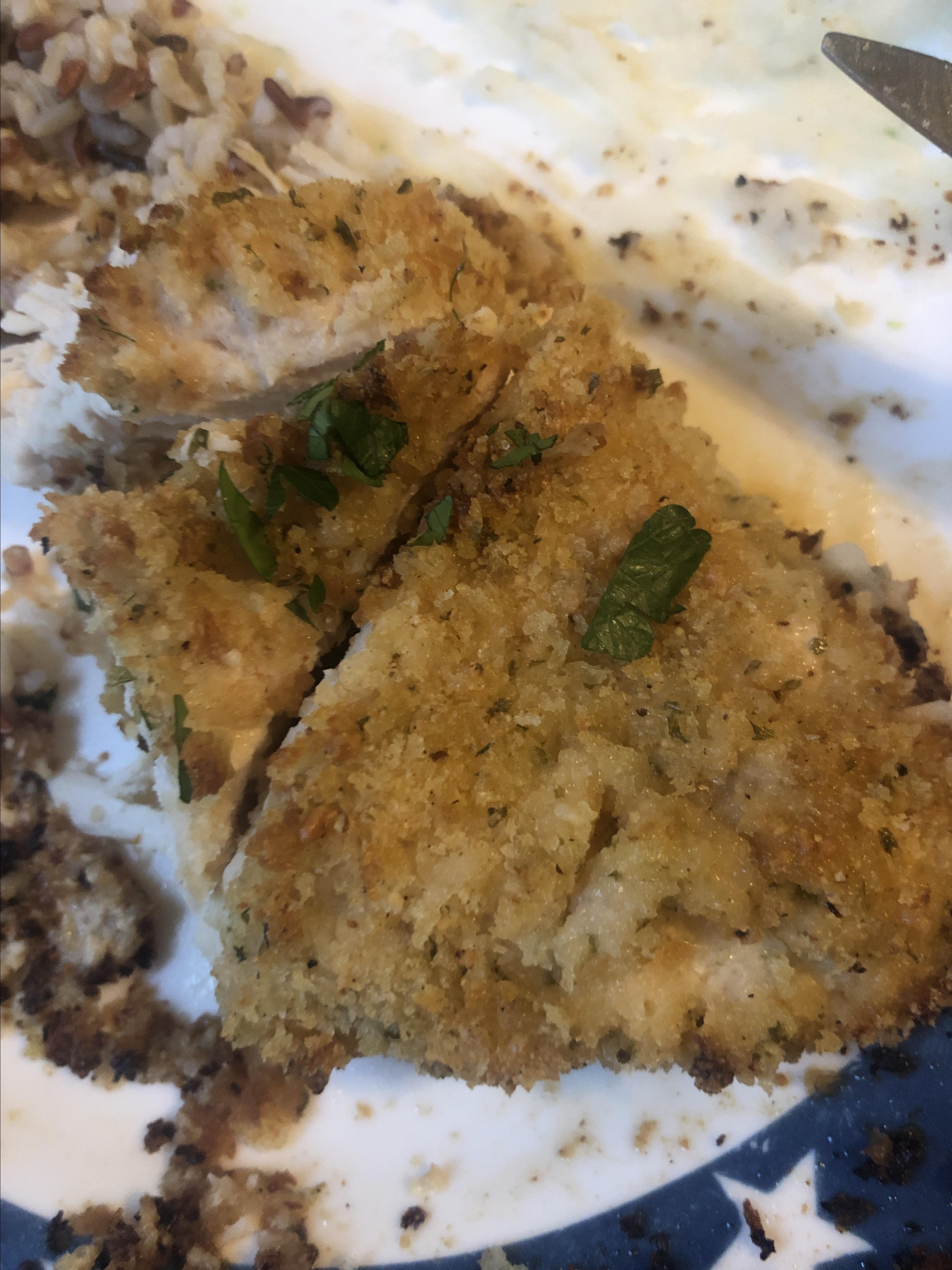 Quick Crispy Parmesan Chicken Breasts