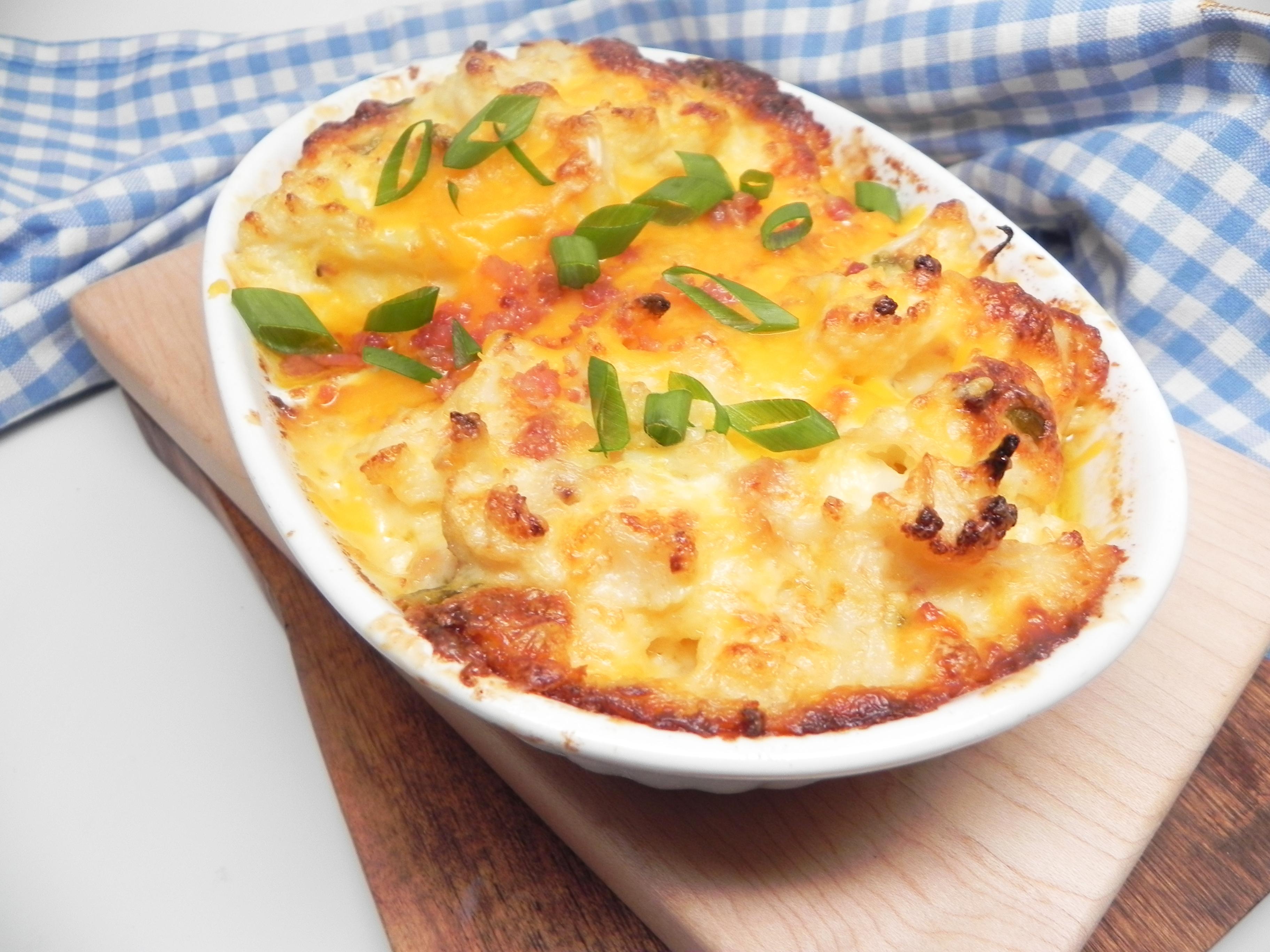 Loaded Cheesy Cauliflower Mandy Campbell