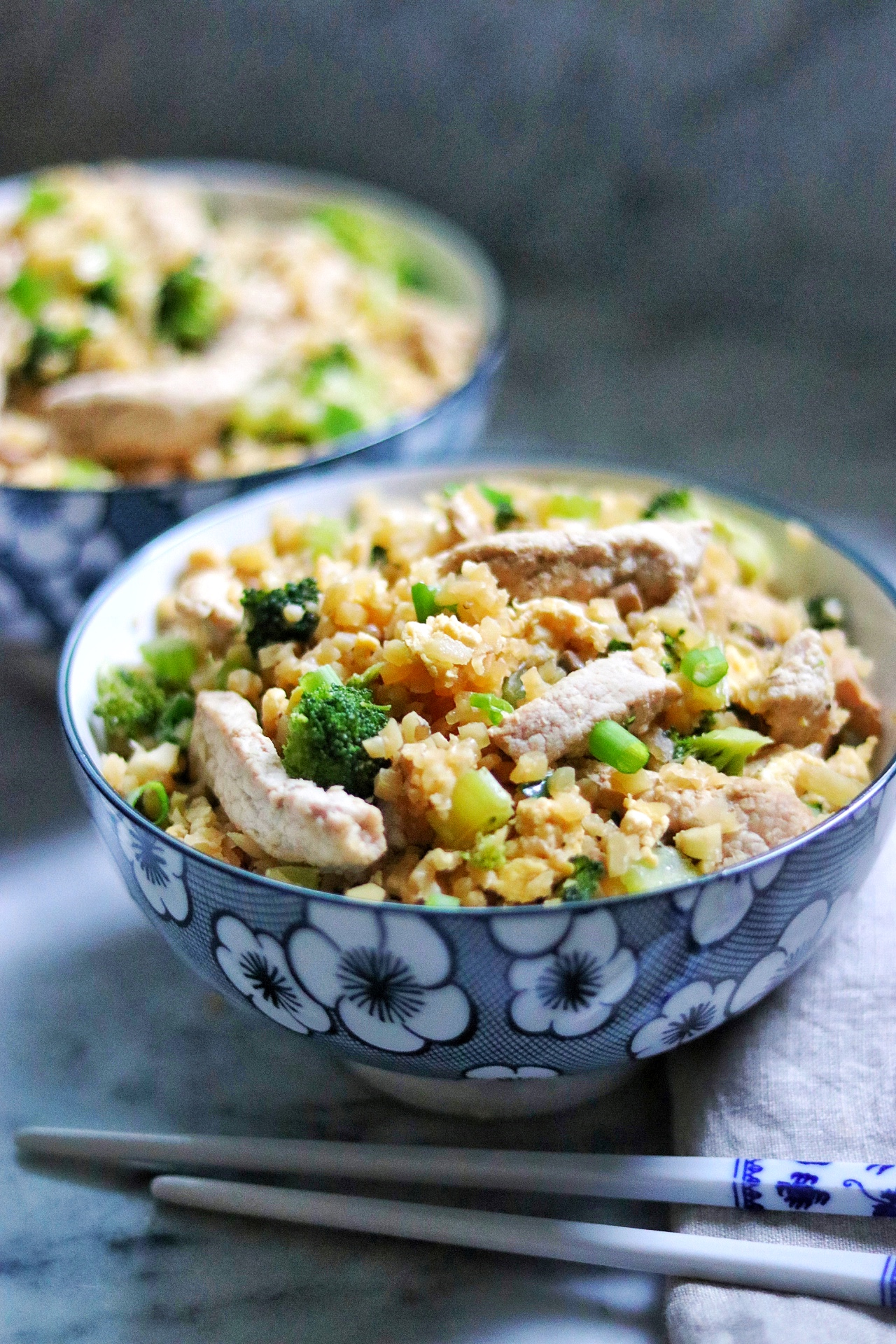 Keto Pork and Veggie Cauliflower Fried Rice