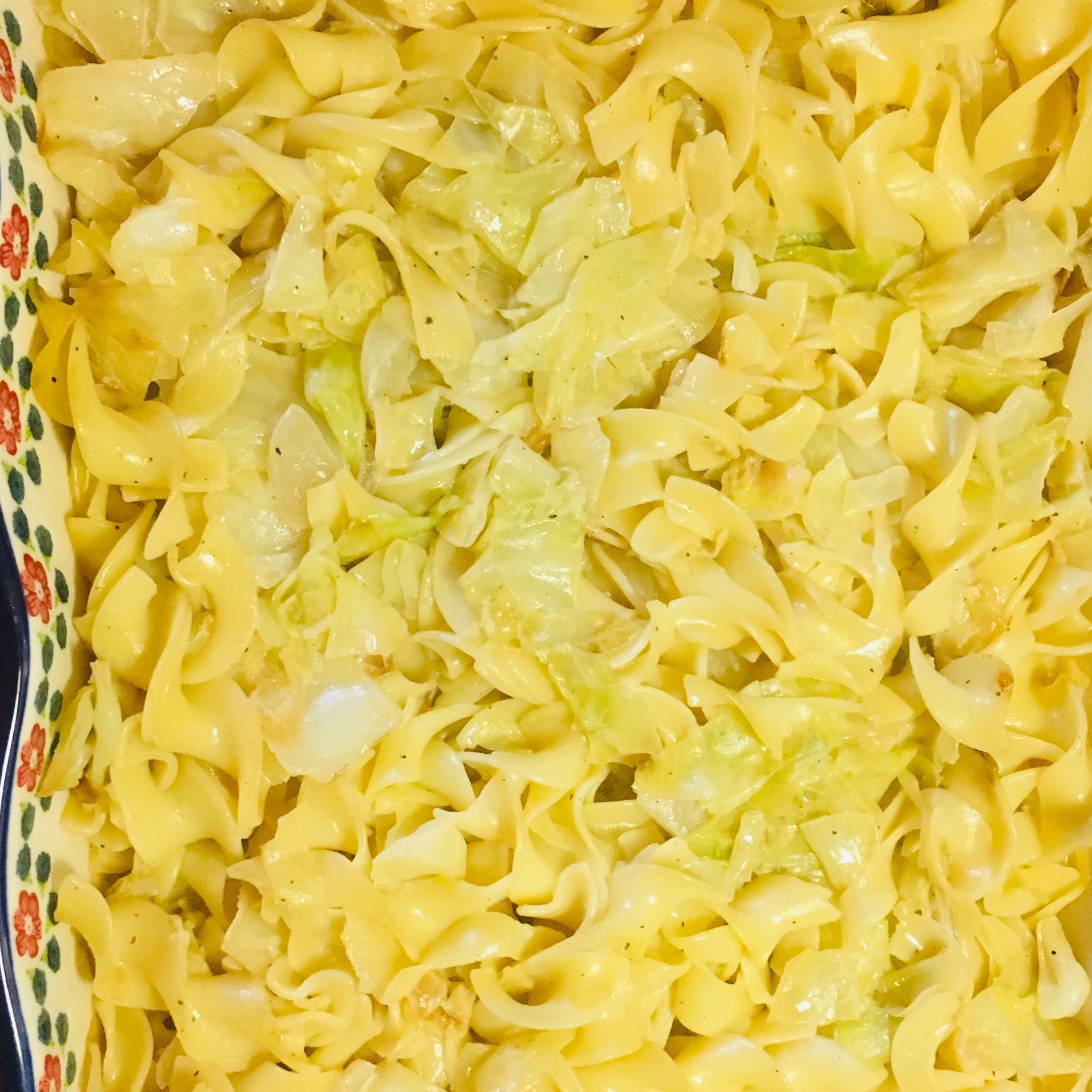 Creamy Cabbage with Noodles