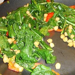 Sauteed Collard Greens and Garbanzo Beans