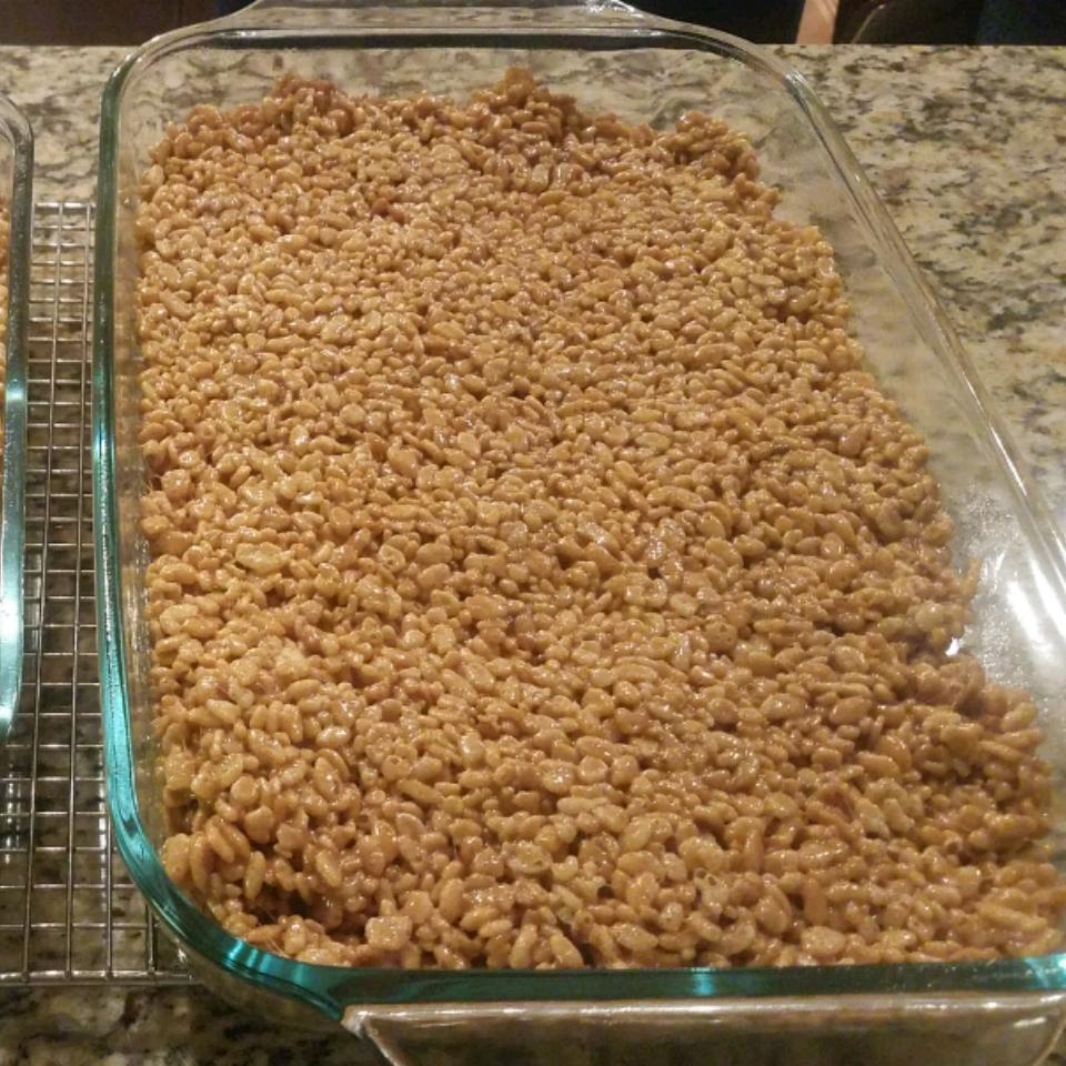 Salted Caramel Marshmallow Crispy Treats (Gluten Free) Justin B