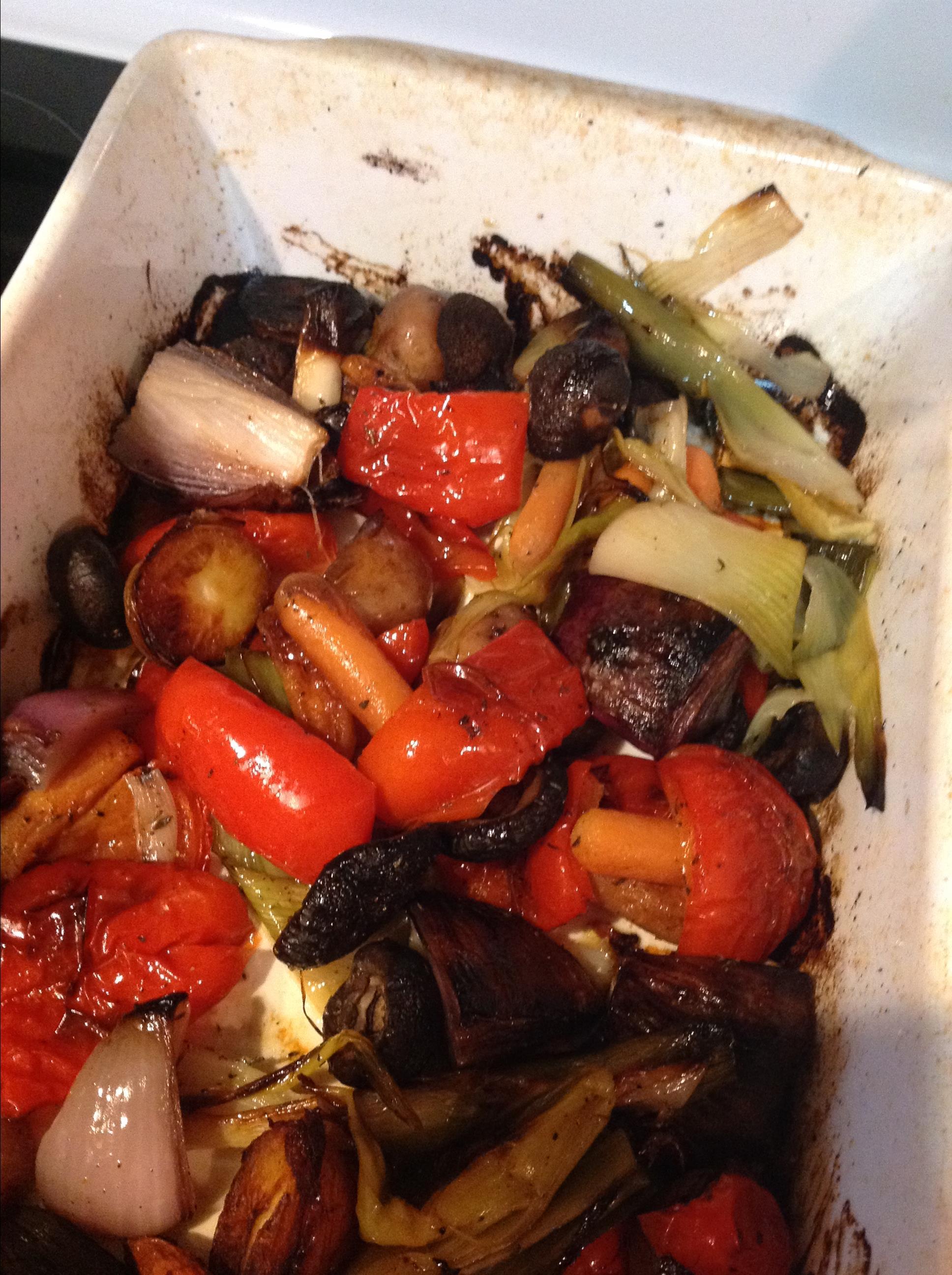Vegan Oven-Roasted Vegetables