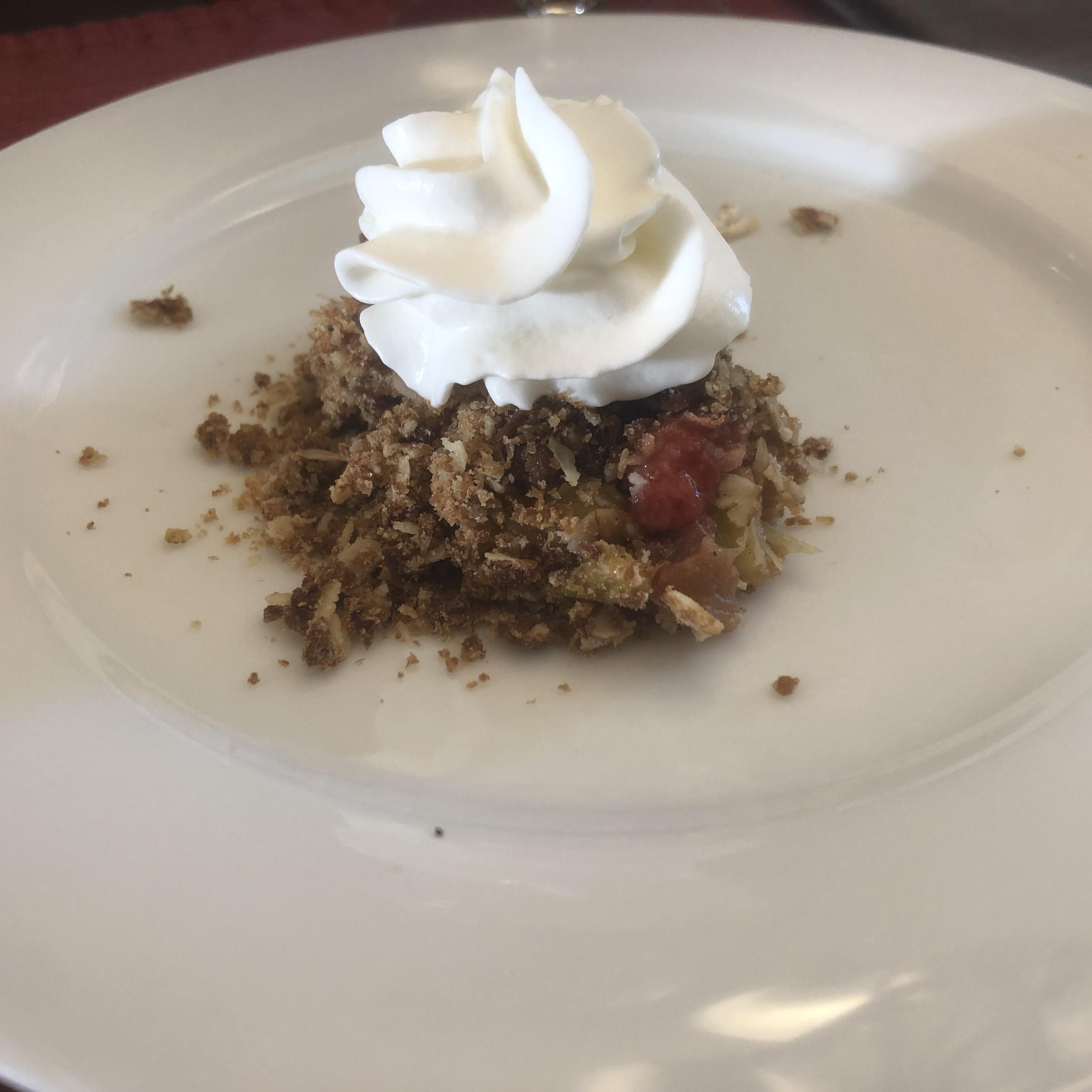 Low Sugar Strawberry Rhubarb Crunch Tricia Schroeder