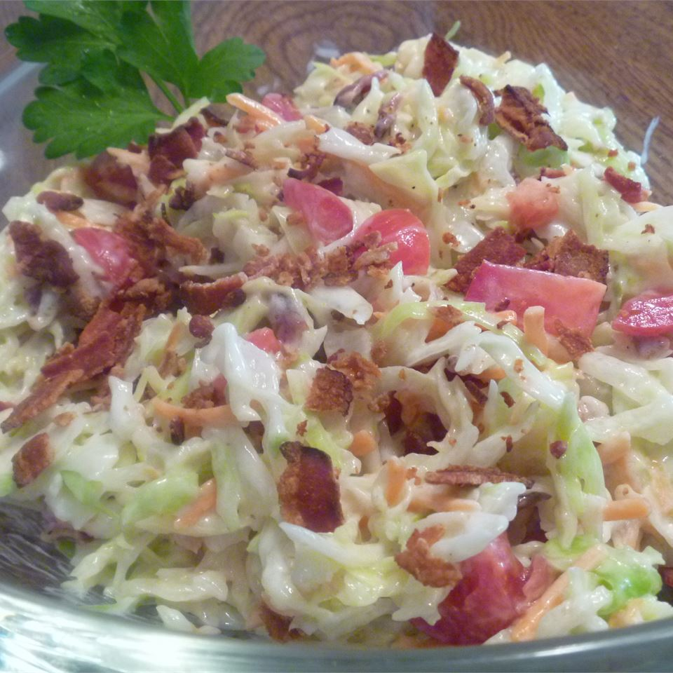 Blue Cheese Coleslaw with Bacon