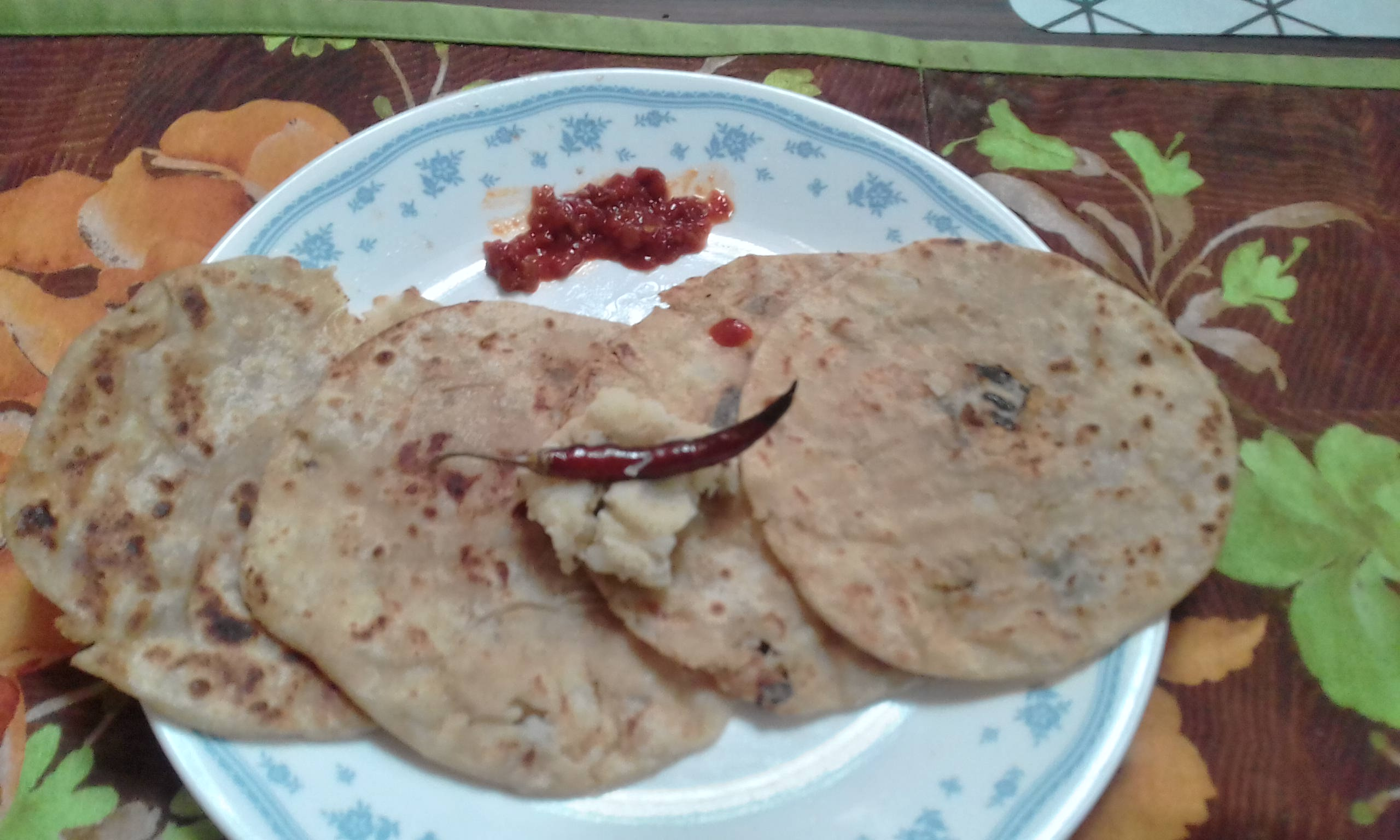 Indian Potato-Stuffed Paratha