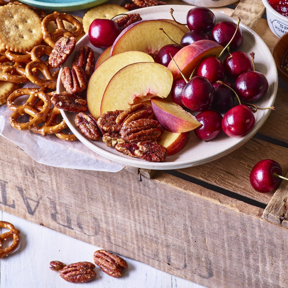 "Making this delicious and healthy snack is very simple but also a rare instance where the recipe is meant to take longer in order to make it easier. Most nuts can burn faster than you can say ""What's that smell?""--so these spiced pecans are baked low and slow to avoid any nasty surprises."
