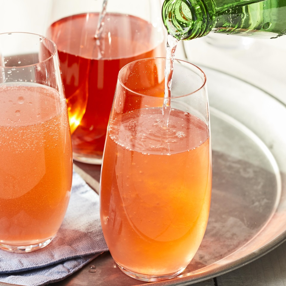 You can easily multiply this strawberry shrub cocktail recipe to make a pitcher cocktail to serve a whole party: just muddle the strawberries, basil and lemon in a pitcher, then vigorously stir in the vodka, shrub, Campari and ice. Top each serving with seltzer. Source: EatingWell Magazine, June 2019