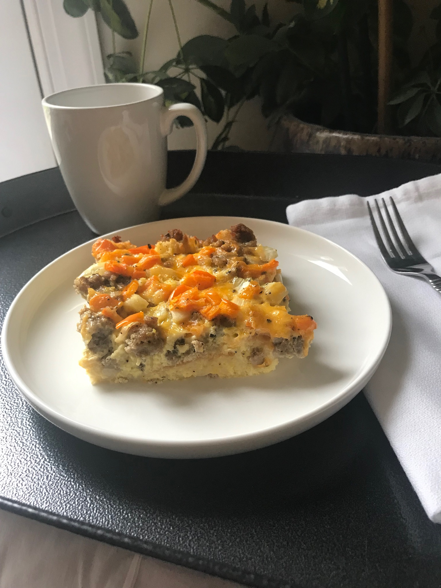 English Muffin-Sausage Breakfast Casserole