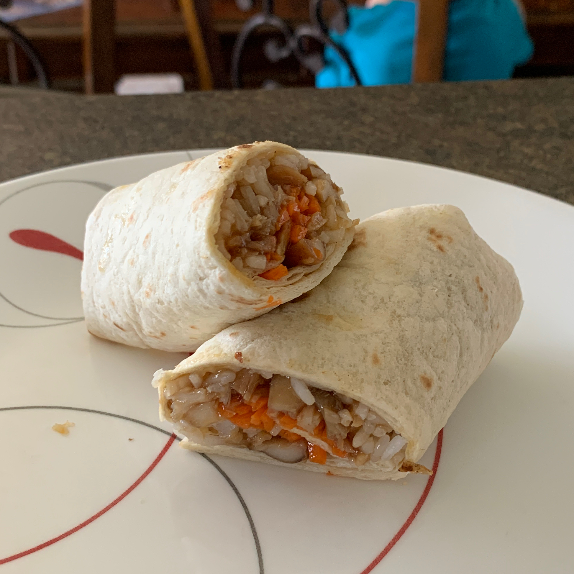 Honey Garlic Chicken Wraps erinm