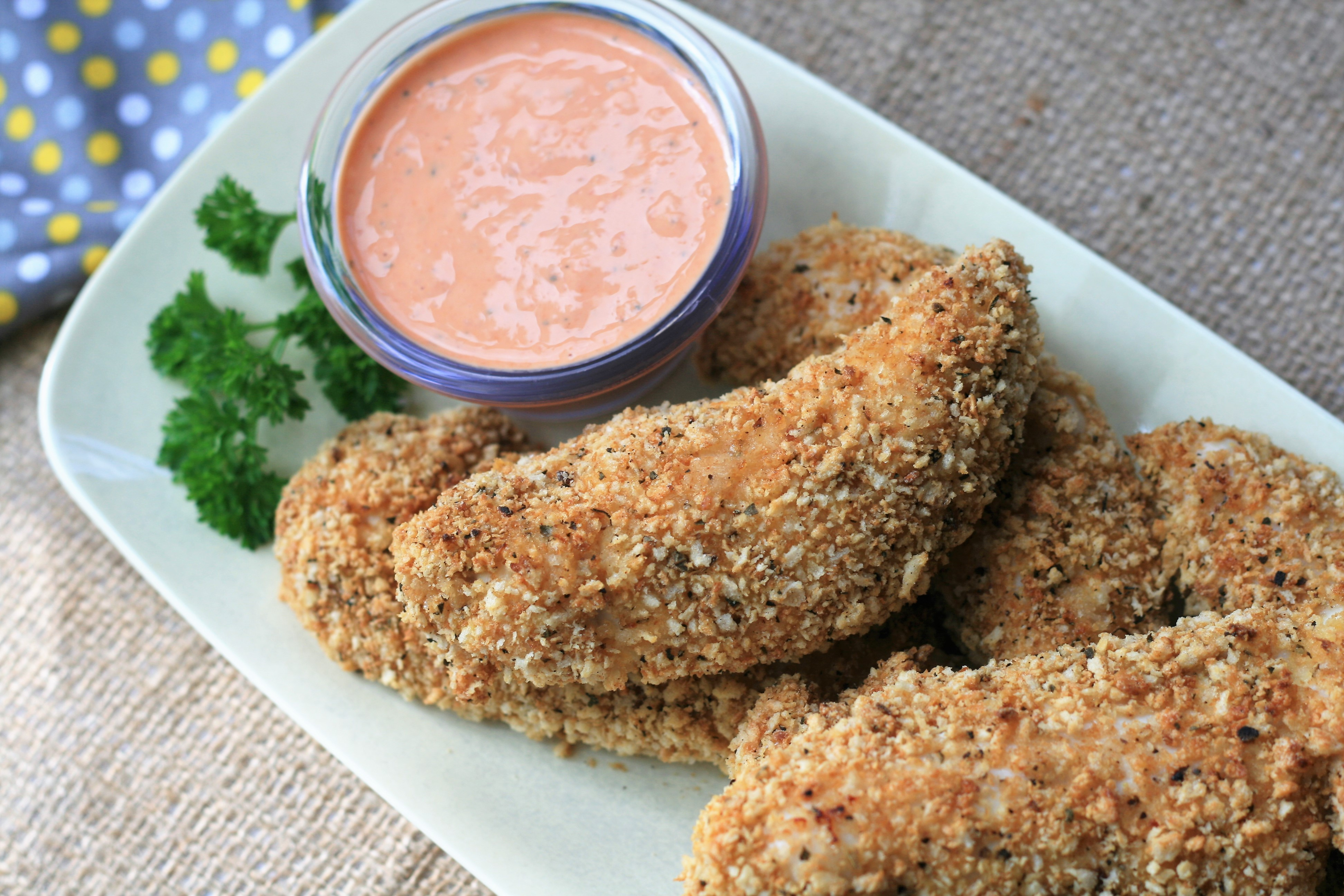 Baked Panko-Crusted Chicken Tenders
