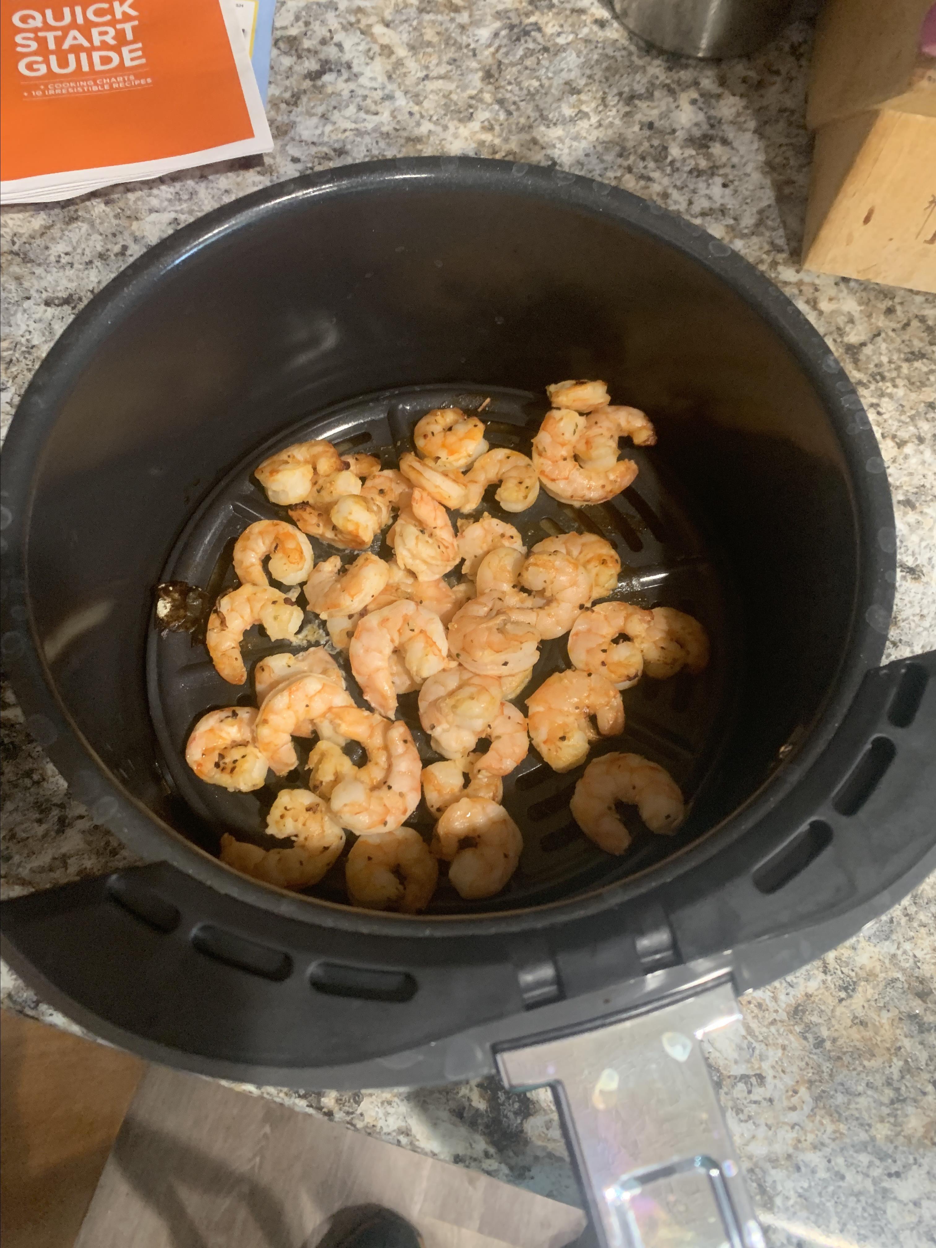 Air Fryer Lemon Pepper Shrimp Kevin Shilling