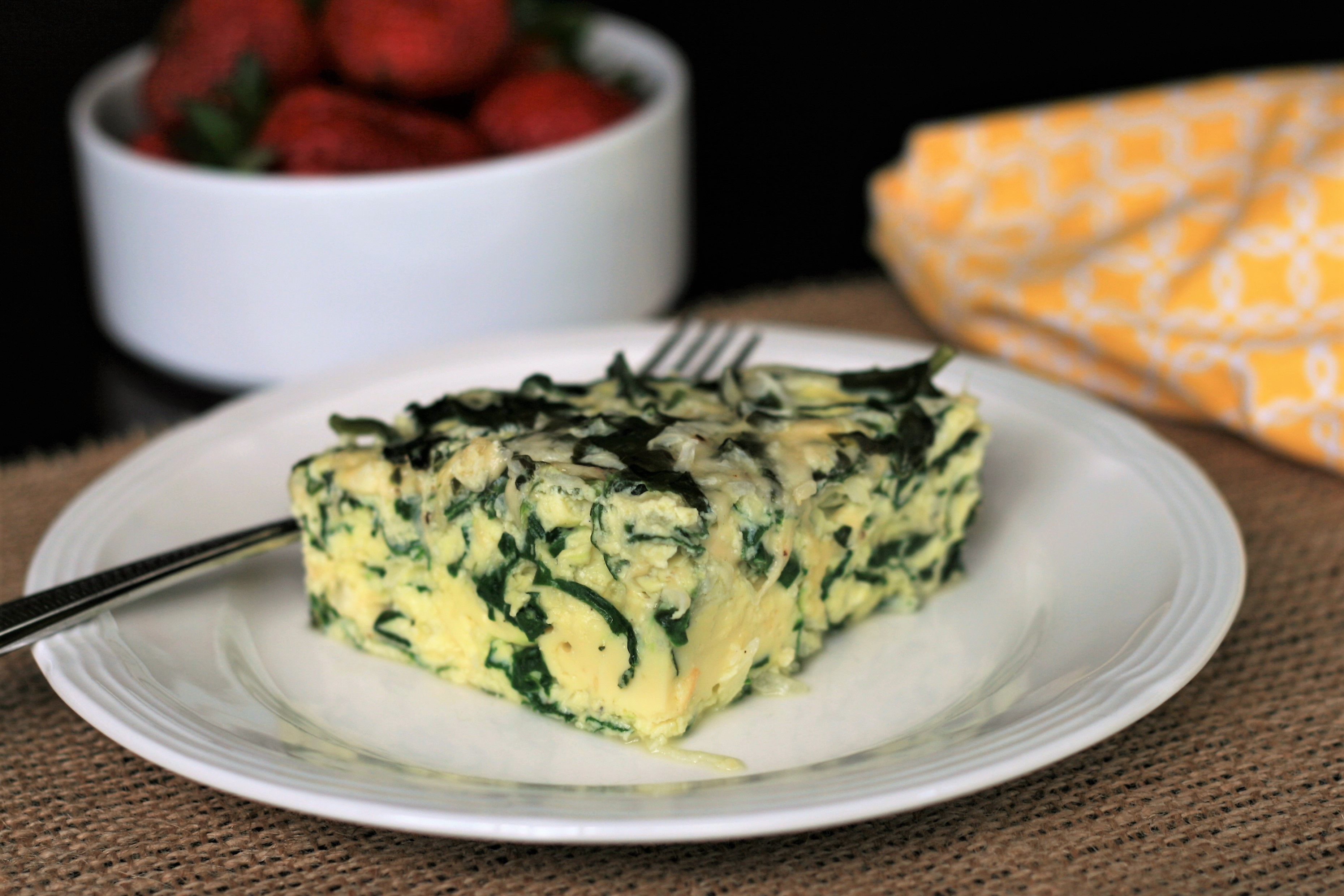 Instant Pot® Keto Crustless Spinach and Gouda Quiche