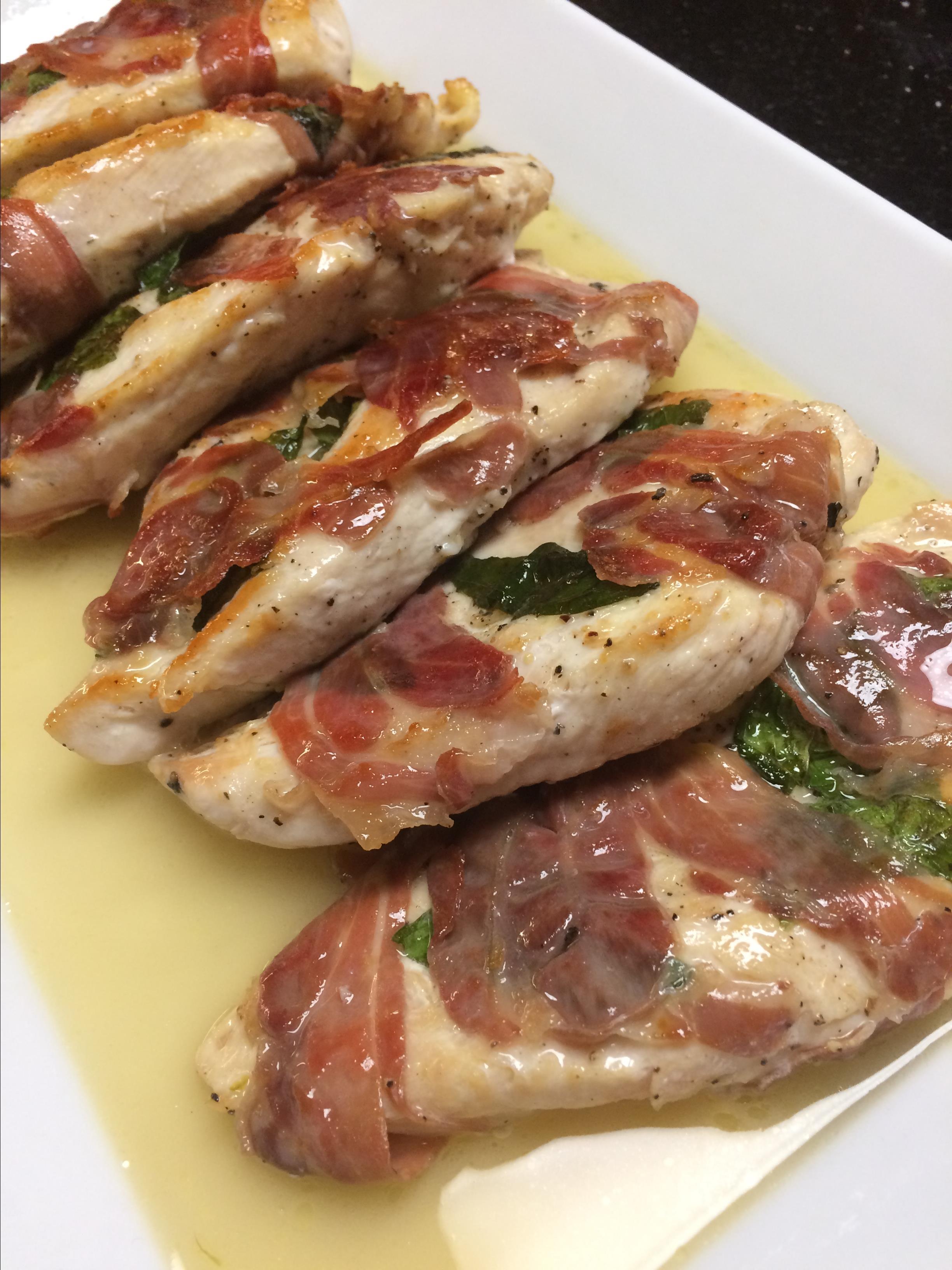 Sandy's Chicken Saltimbocca