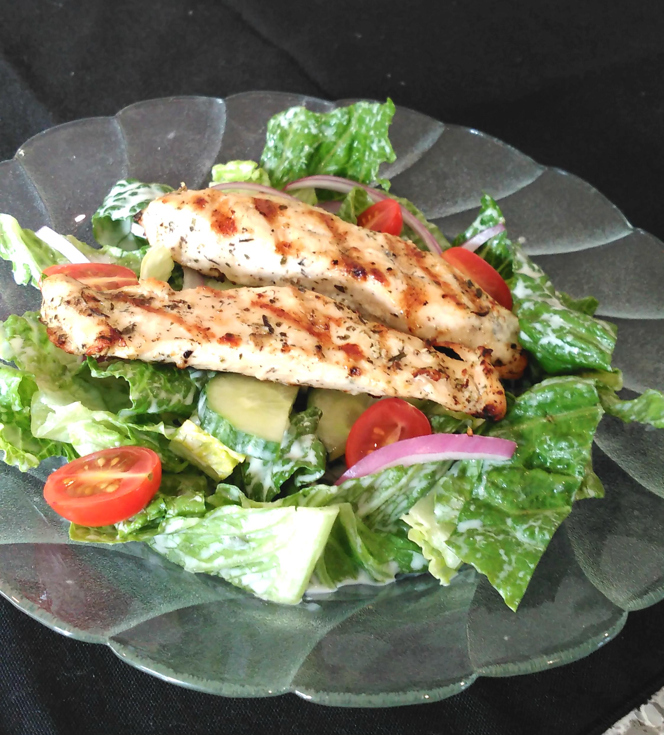Chicken Souvlaki Salad Bren