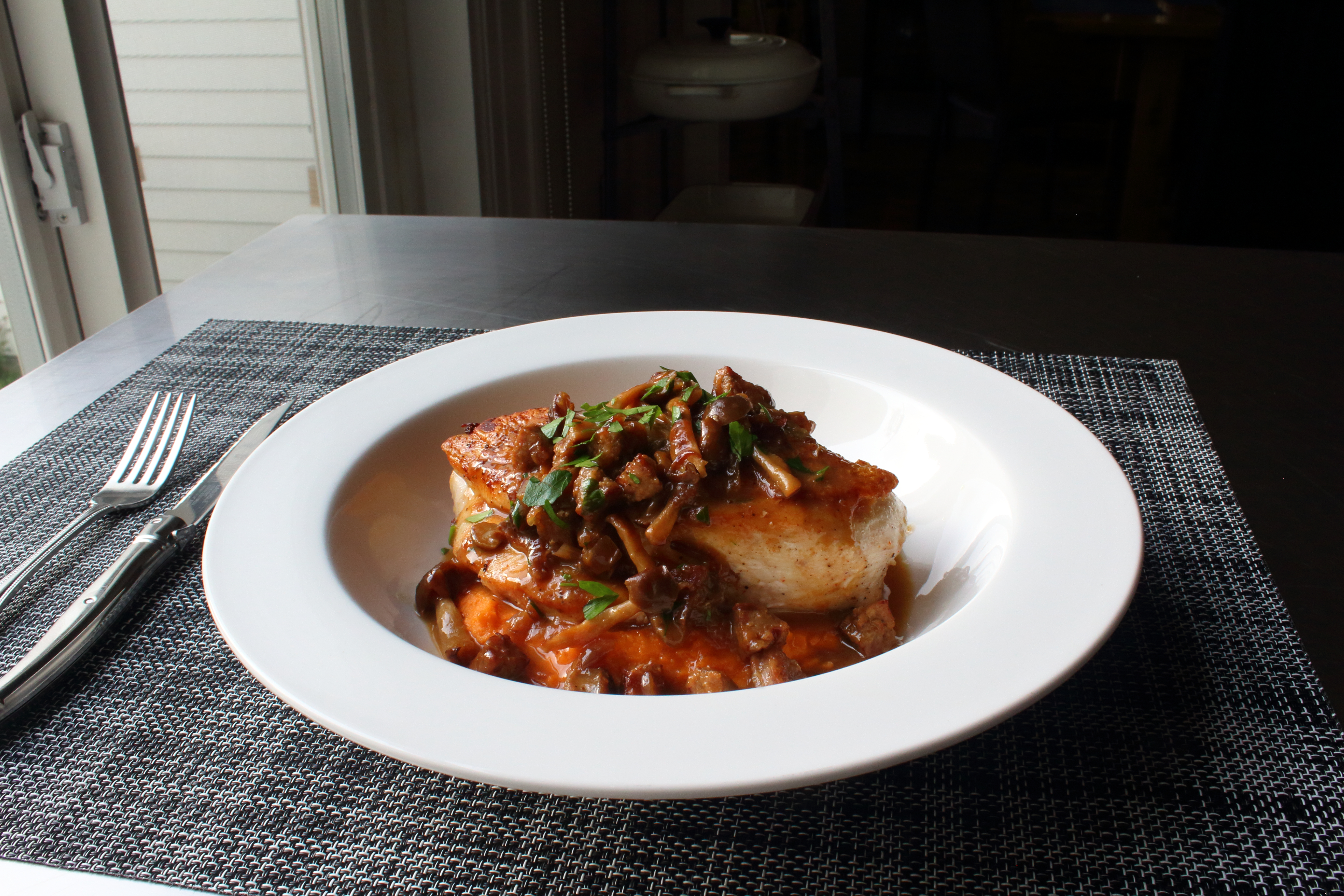 Sausage-Mushroom Chicken Chef John