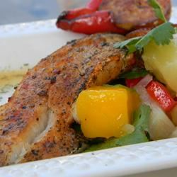 Paprika-Spiced Grilled Cod and Party-in-Your-Mouth Mango Salsa! Baking Nana