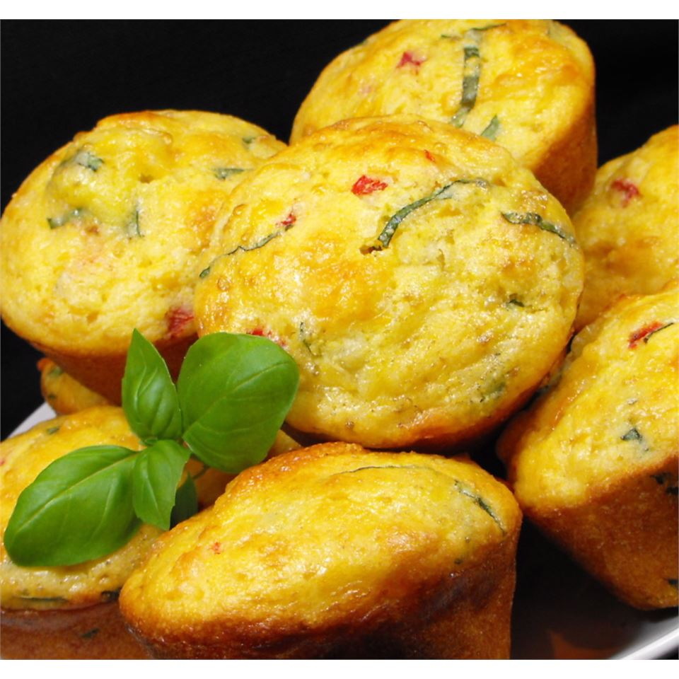 Basil, Roasted Peppers and Monterey Jack Cornbread bellepepper