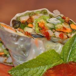 Shrimp Summer Rolls with Asian Peanut Sauce