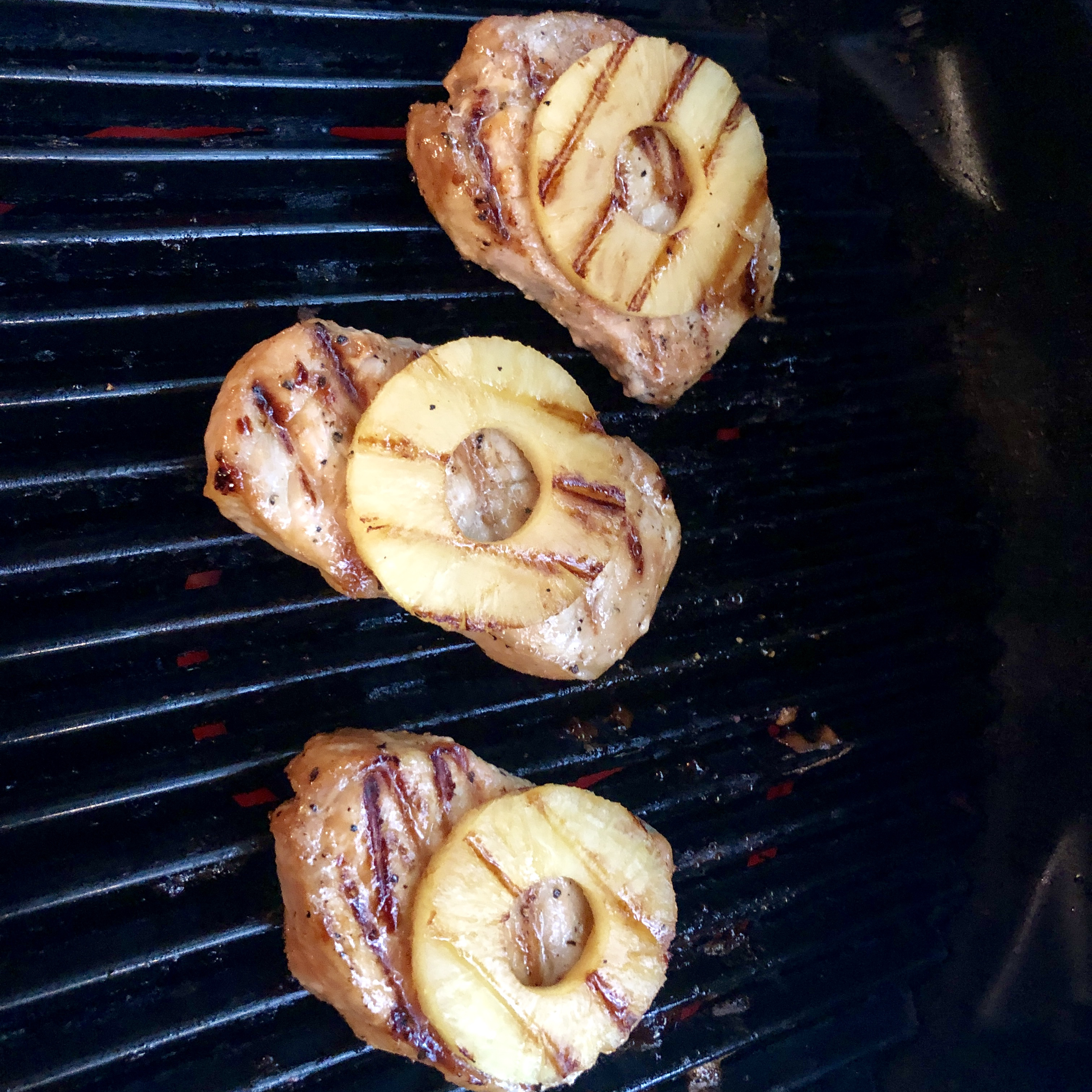 Pineapple Grilled Pork Chops