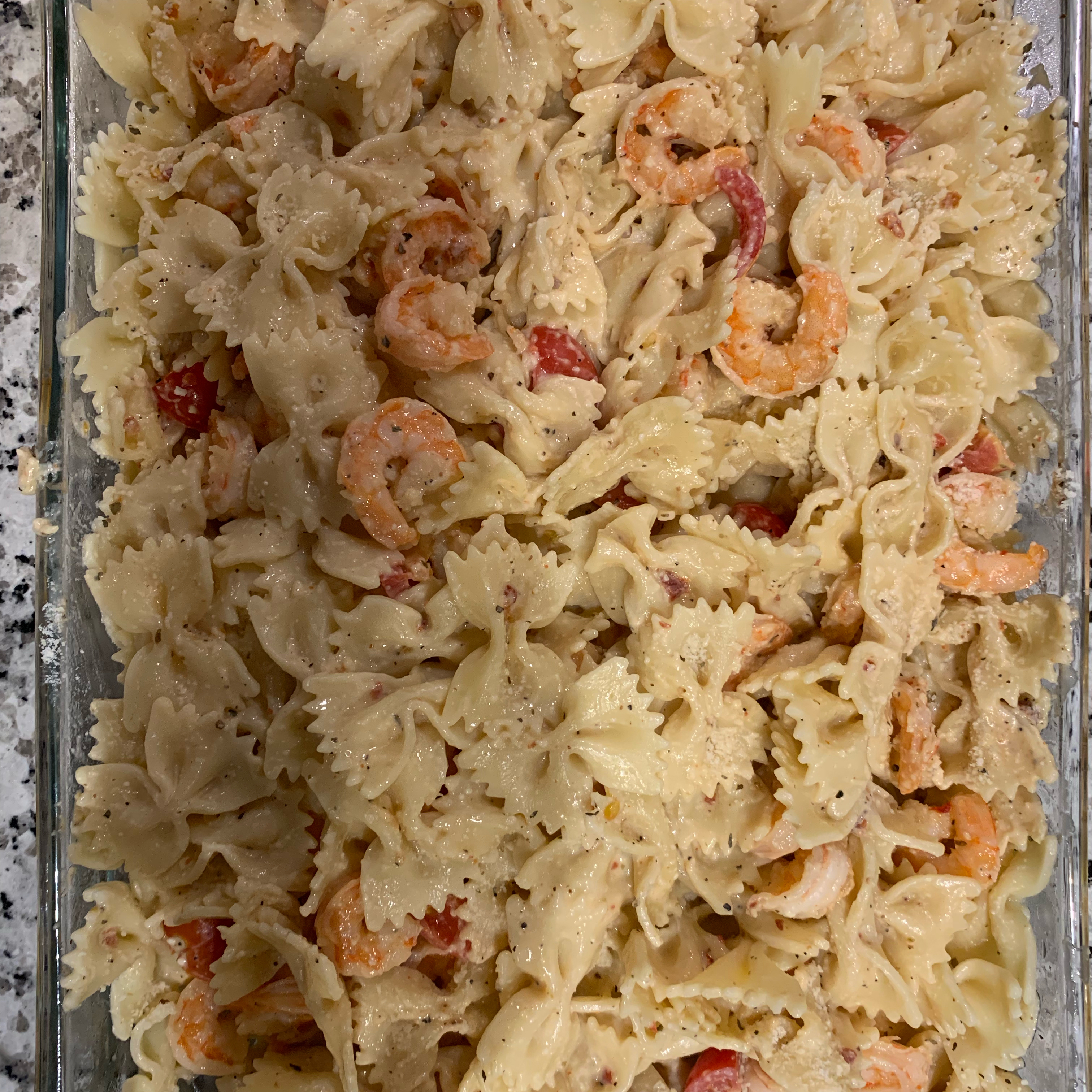 Creamy Tomato-Basil Pasta with Shrimp Flavia Gonzalez