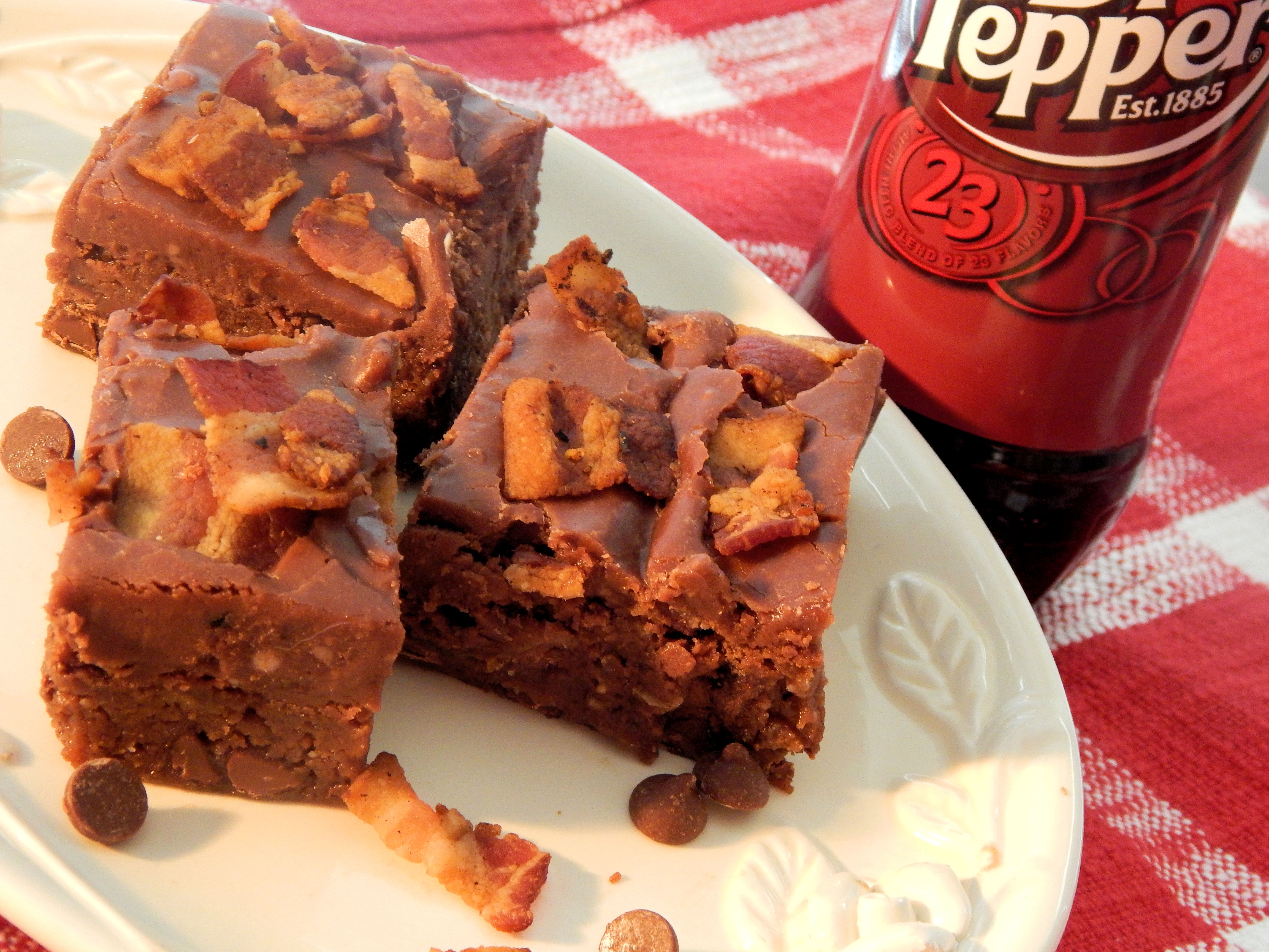 Dr Pepper® Bacon Brownies
