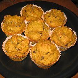 Pumpkin Coconut Muffins with Chocolate Chips FemmeChef
