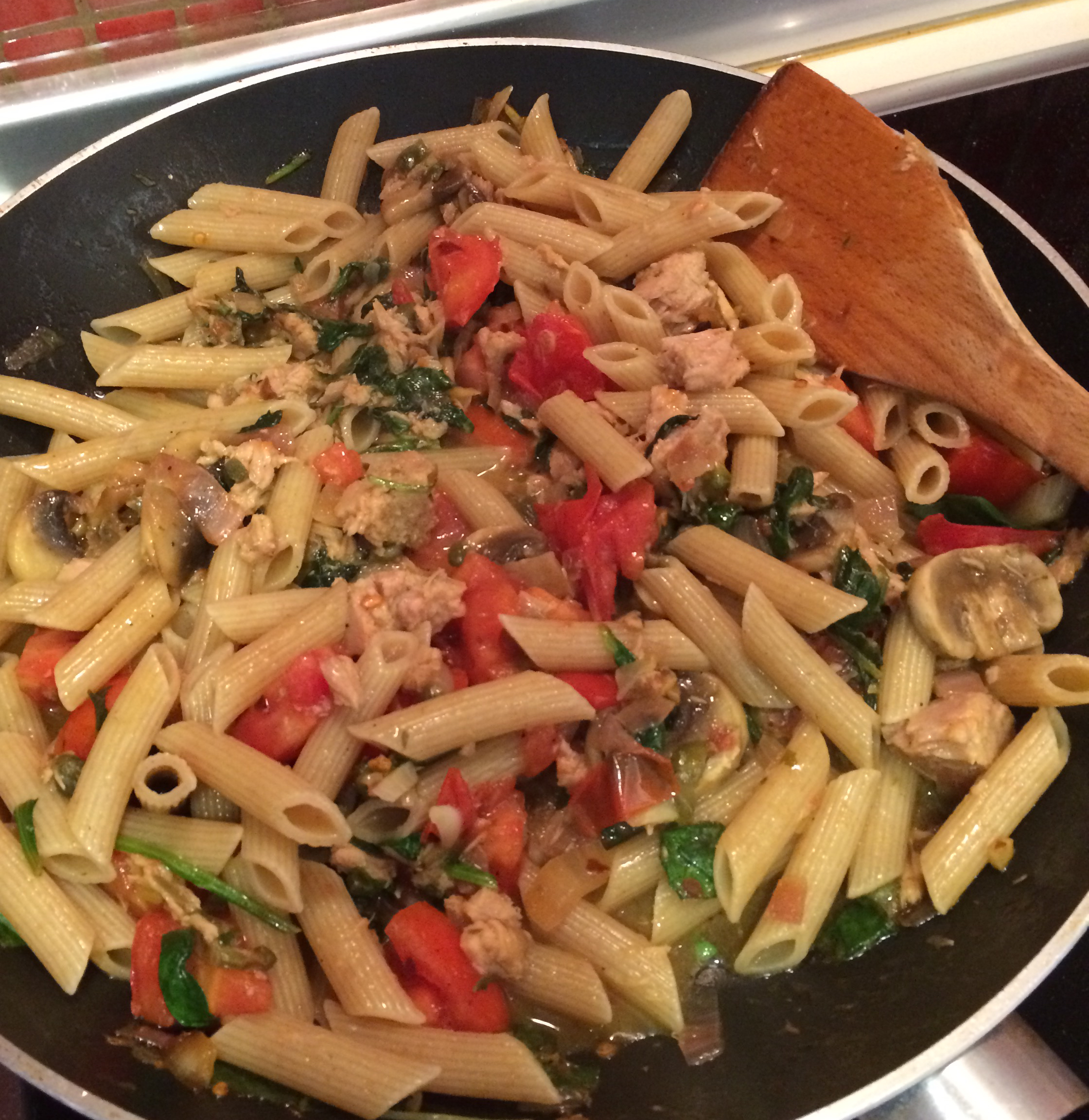 Penne with Pancetta, Tuna, and White Wine Valerie