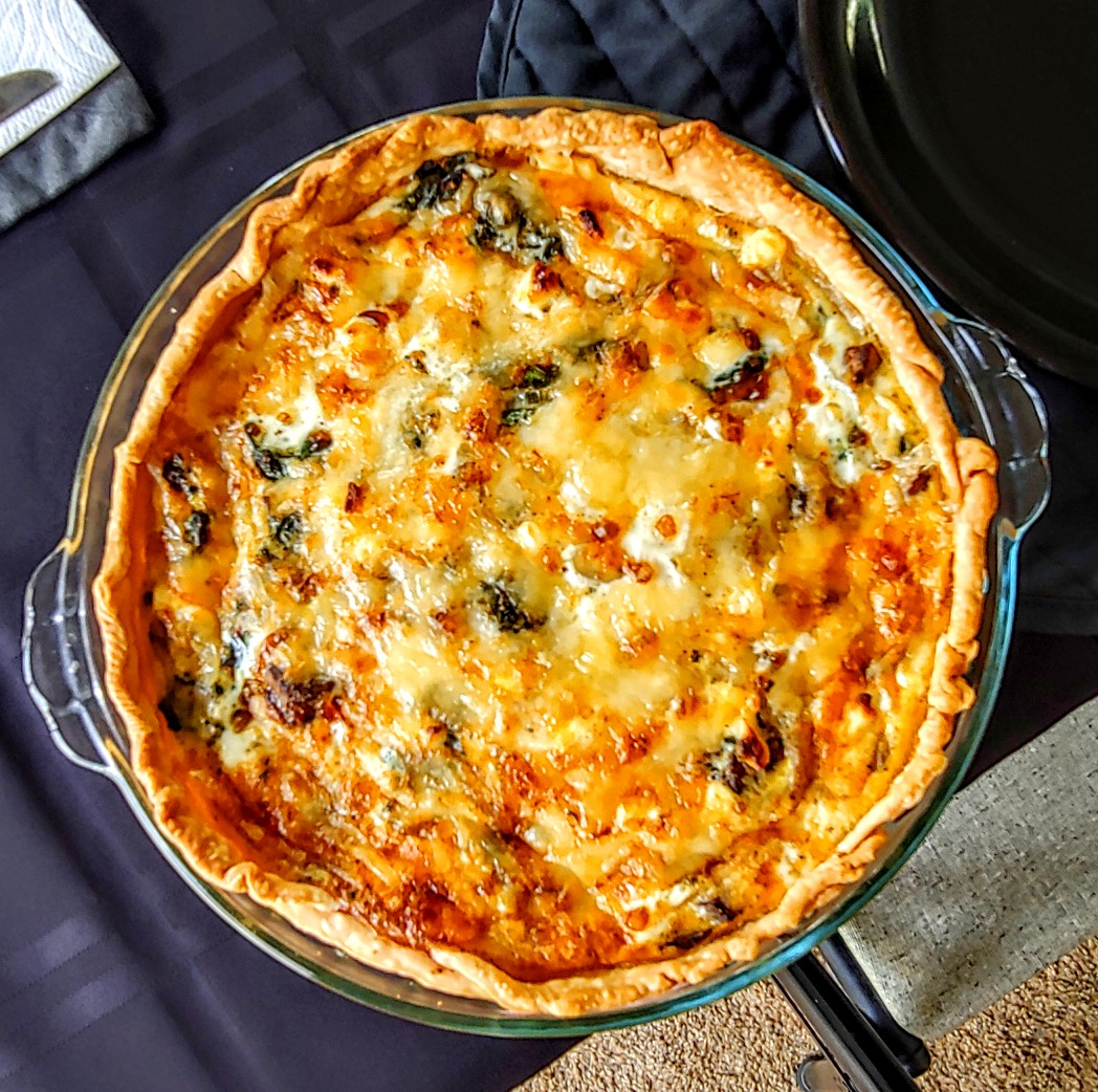 Transformed Spinach Mushroom Quiche