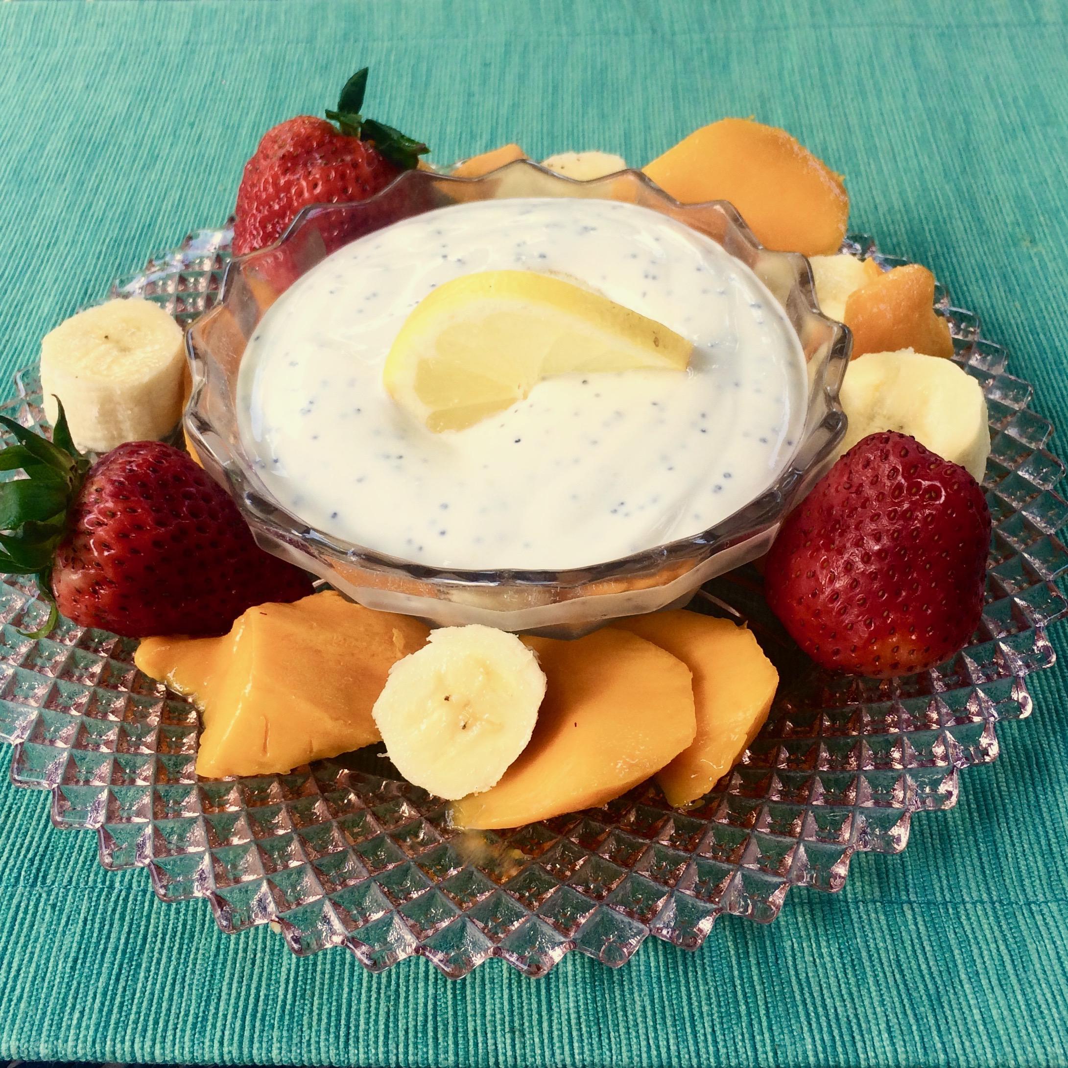 Lemon-Poppy Seed Fruit Dip