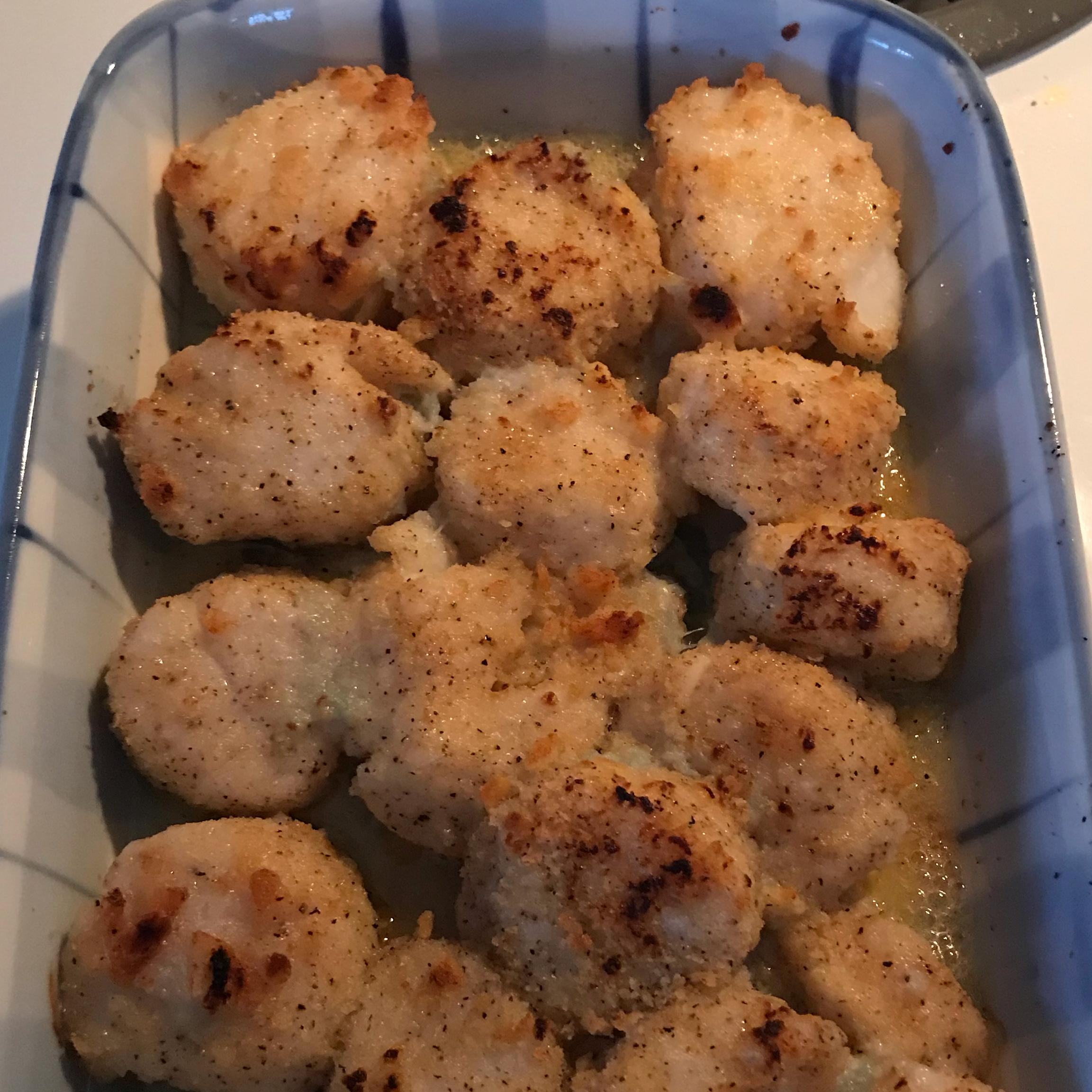 Dinah's Baked Scallops