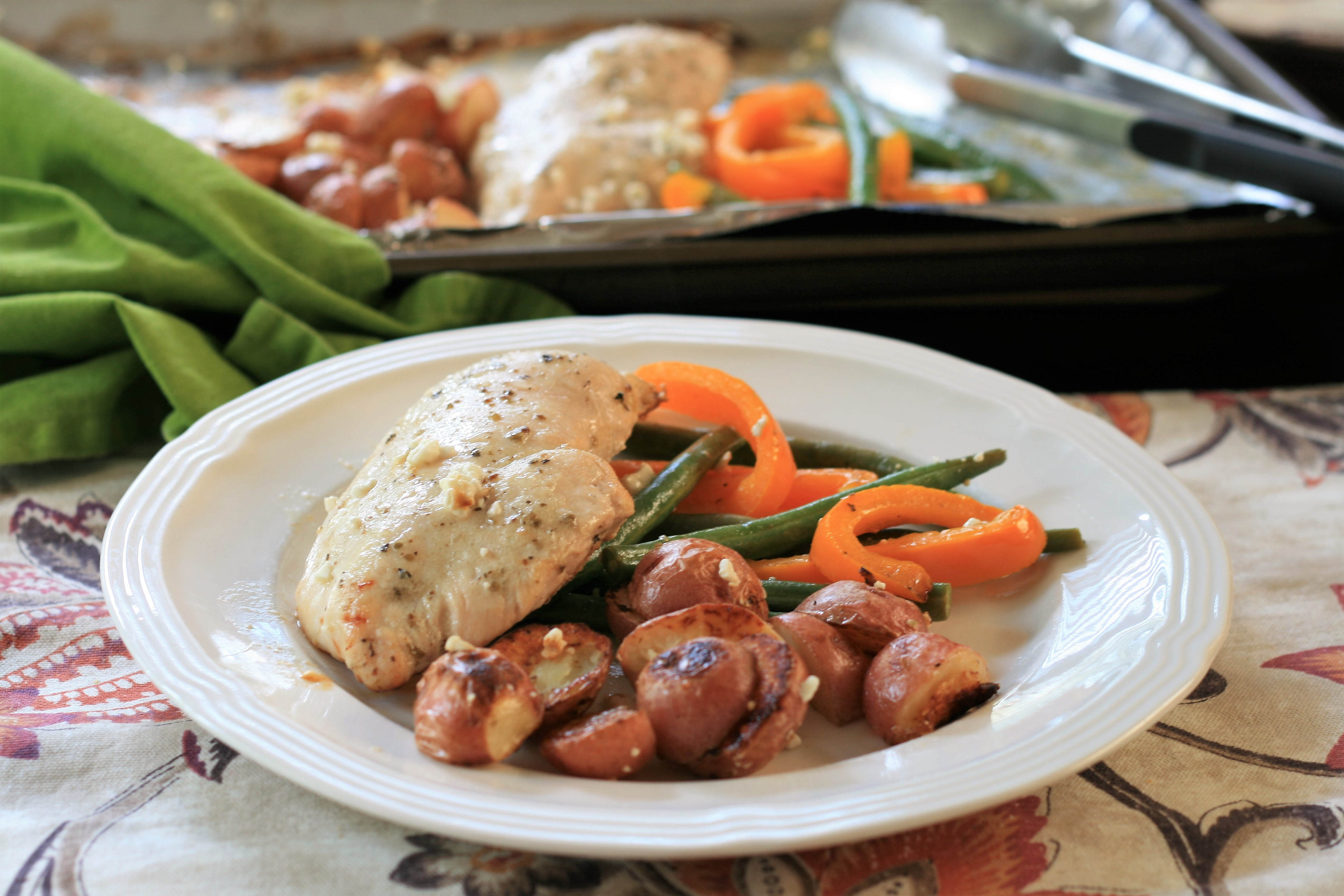 Sheet Pan Chicken Dinner for Two France C