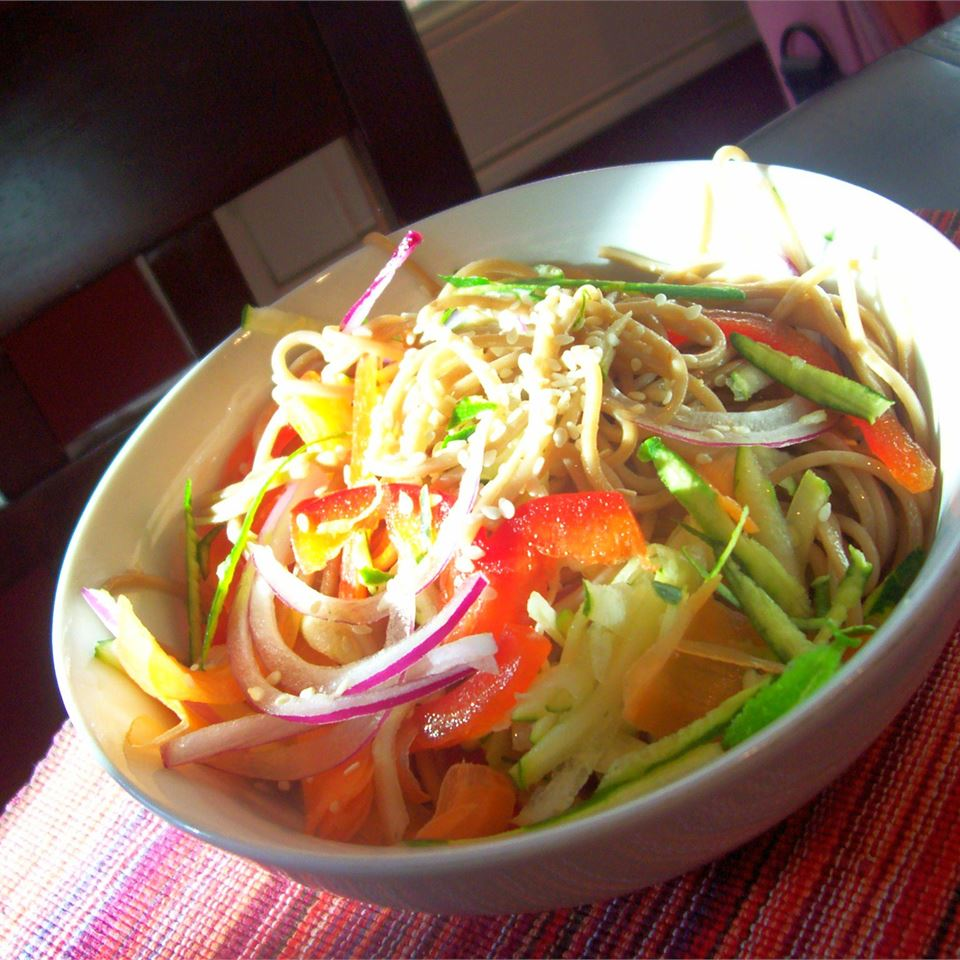 Cold Szechuan Noodles and Shredded Vegetables Traci-in-Cali