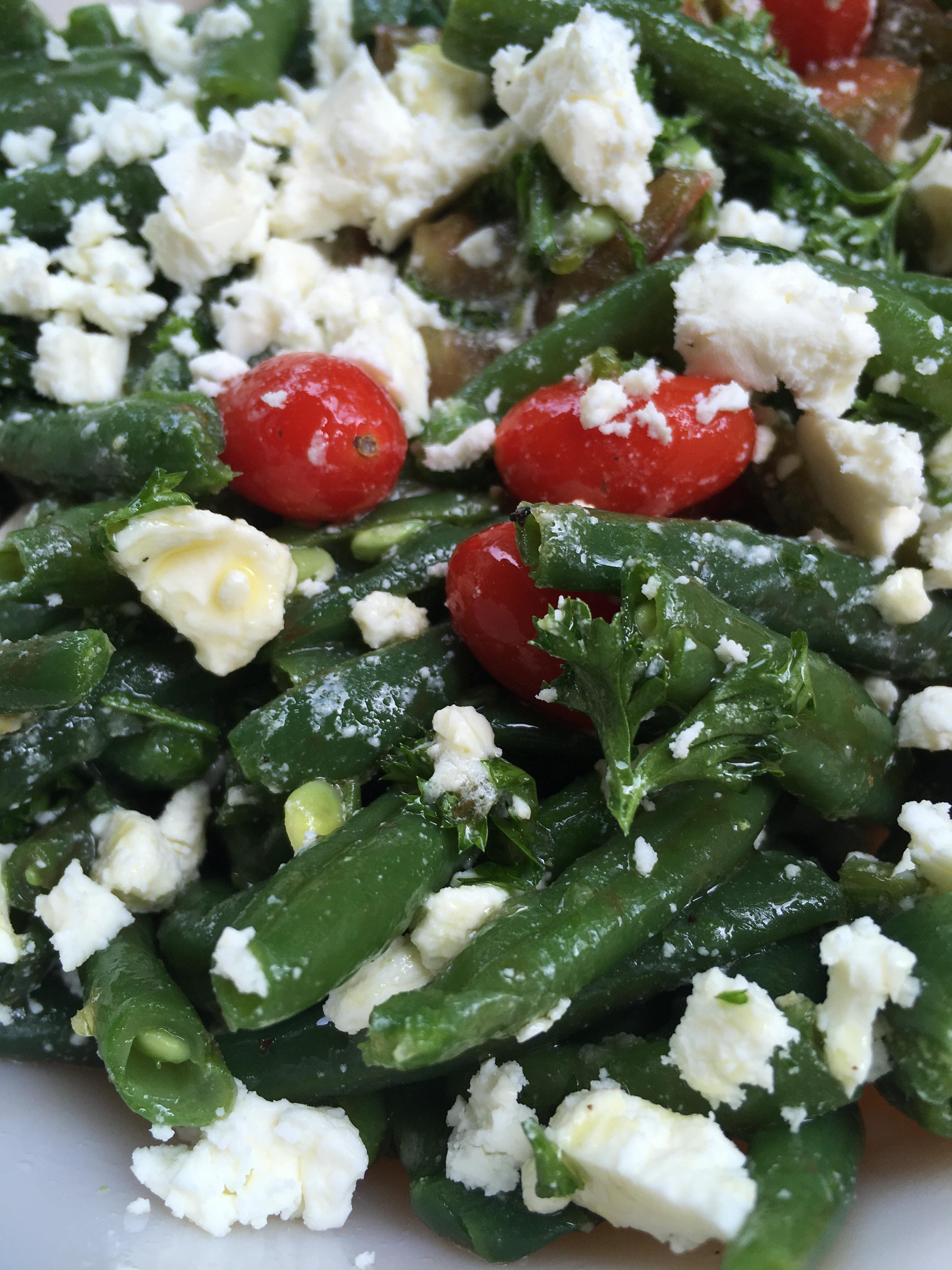 Greek Green Bean Salad with Feta and Tomatoes Marianne