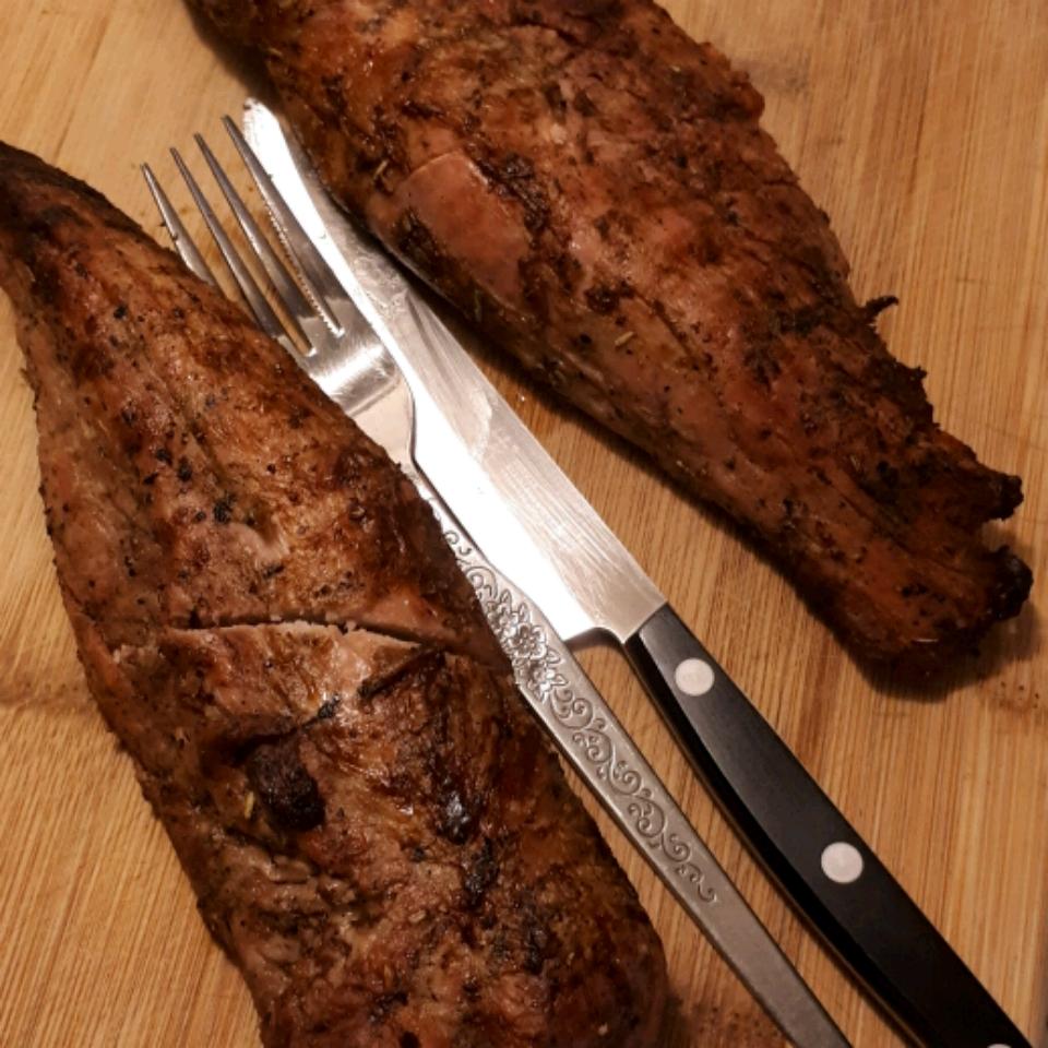 Garlic Herb Grilled Pork Tenderloin Brandey Lee Sali