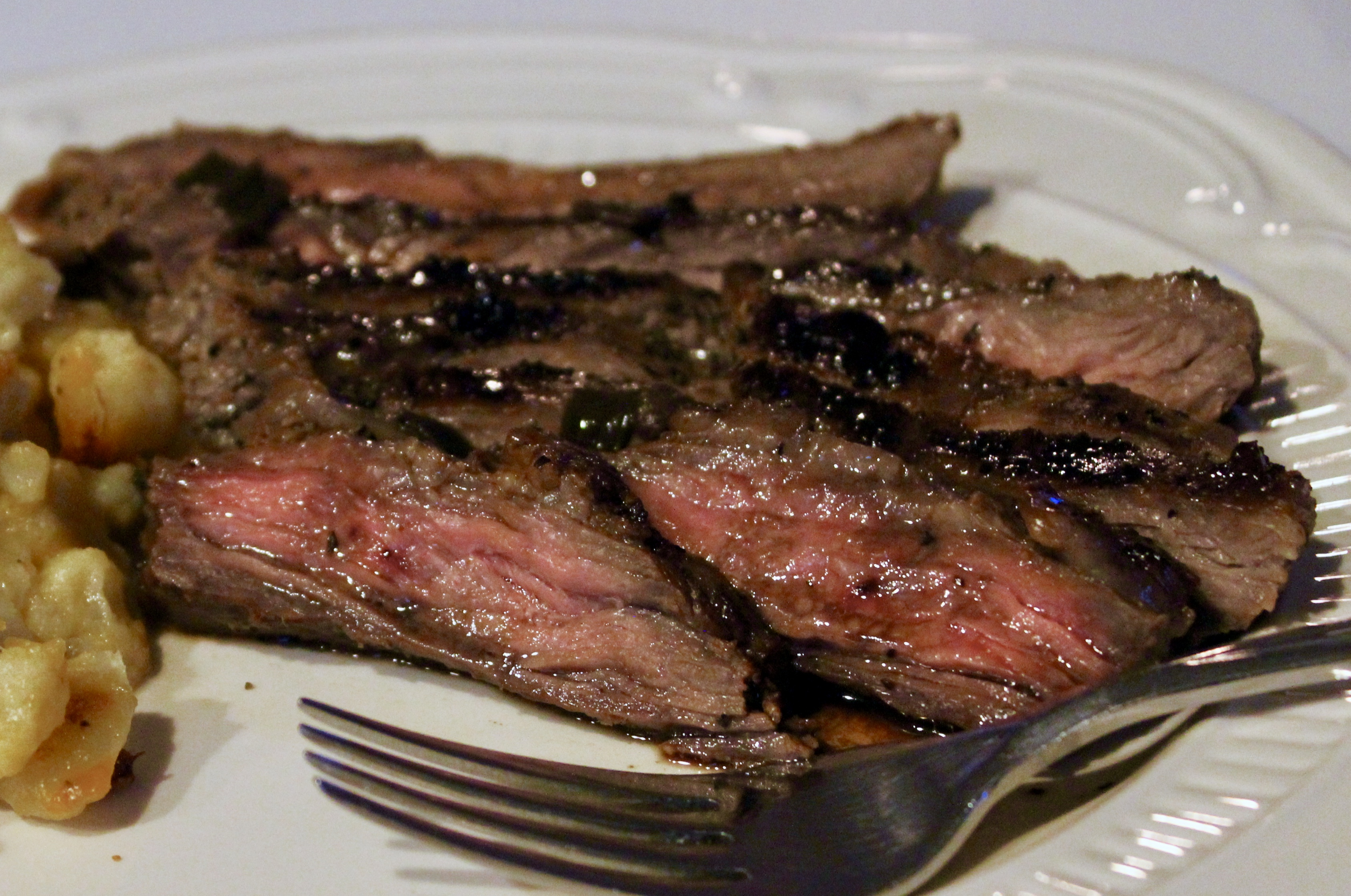Grilled Flank Steak with Red Wine Sauce image