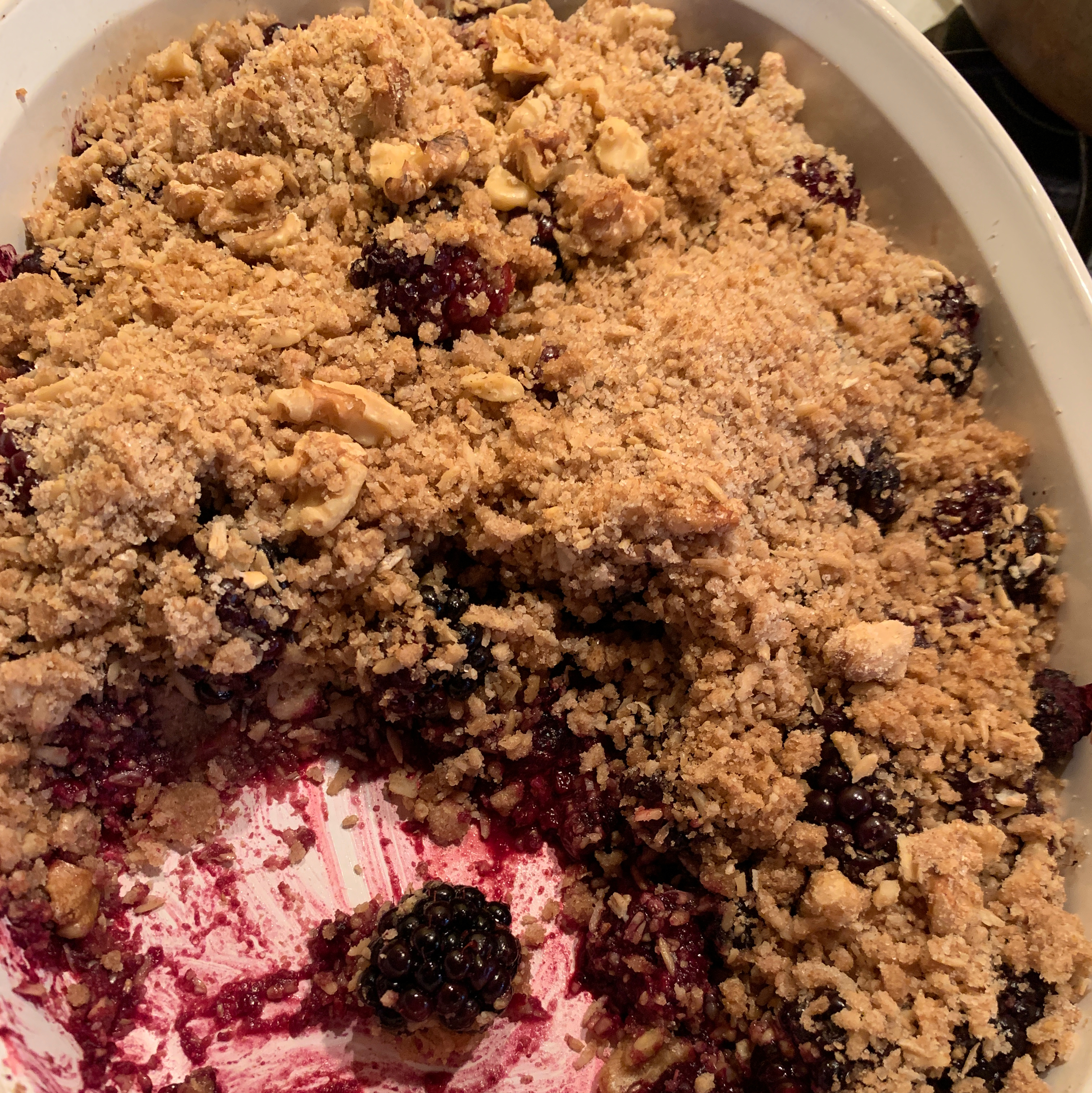 Fresh Fruit and Berry Crumble