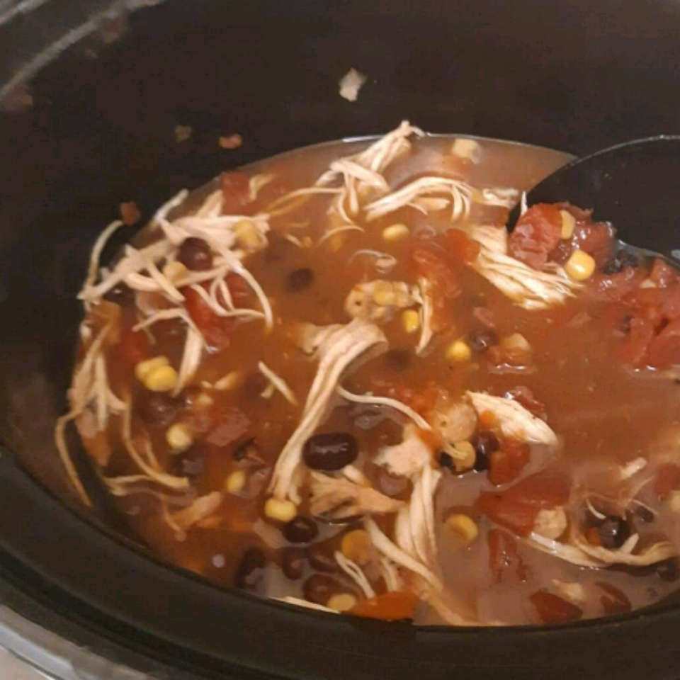 Slow Cooker Chicken Enchilada Soup Erika