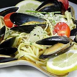 mussels mariniere with linguine recipe