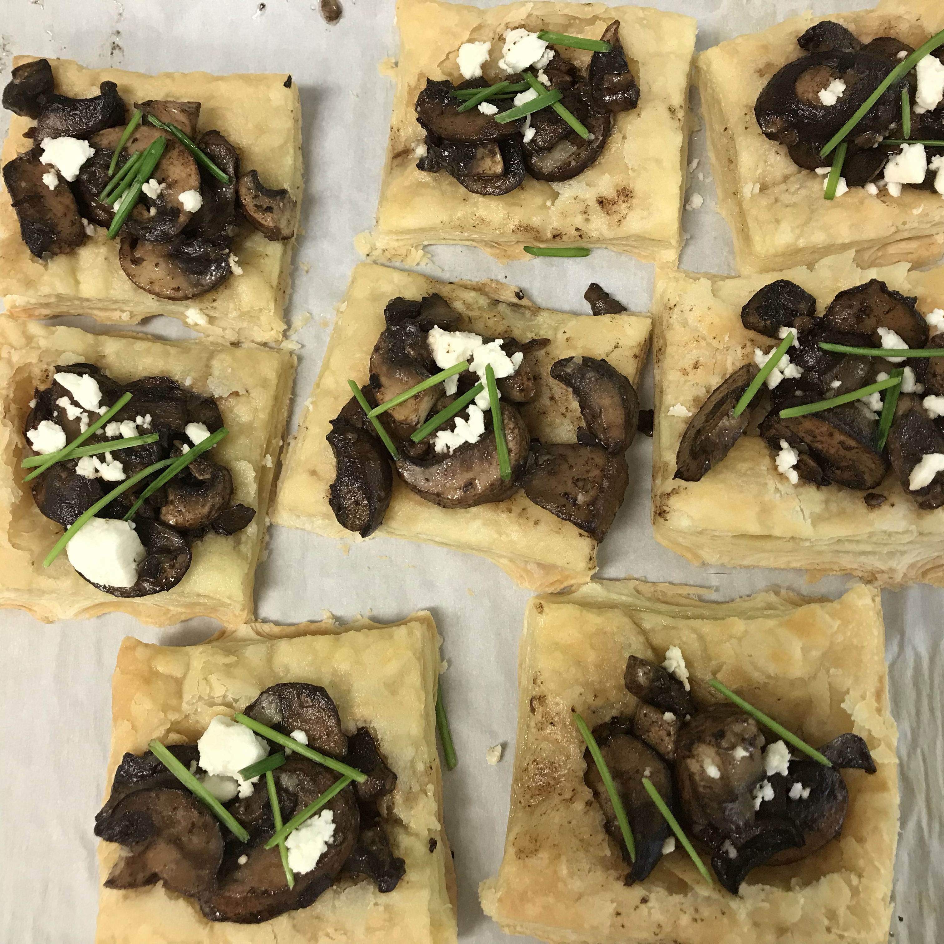 Mini Mushroom and Goat Cheese Tarts