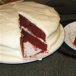 Reduced Fat and Cholesterol Red Velvet Cake squeeziebrb