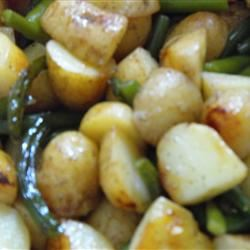 Barbequed Potato and Garlic Scape Packets VRCOOK