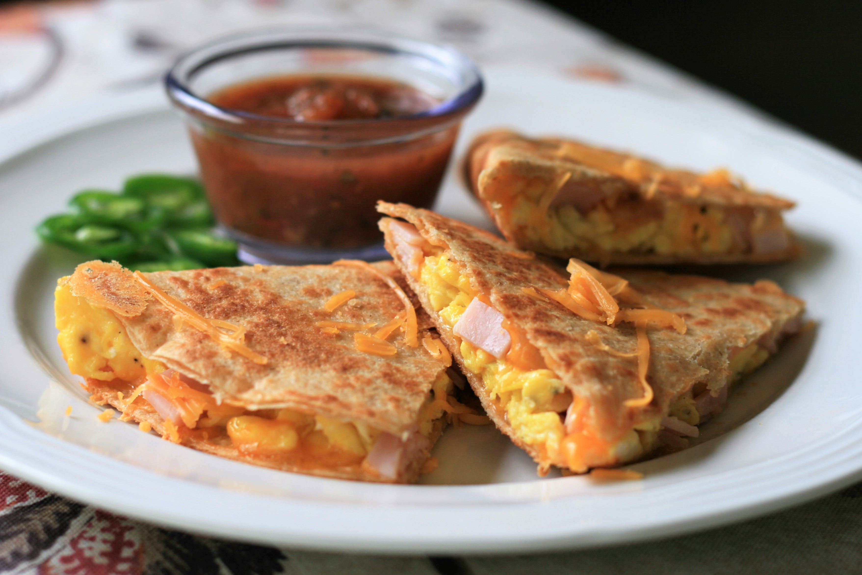 Ham, Egg, and Cheese Quesadillas France C